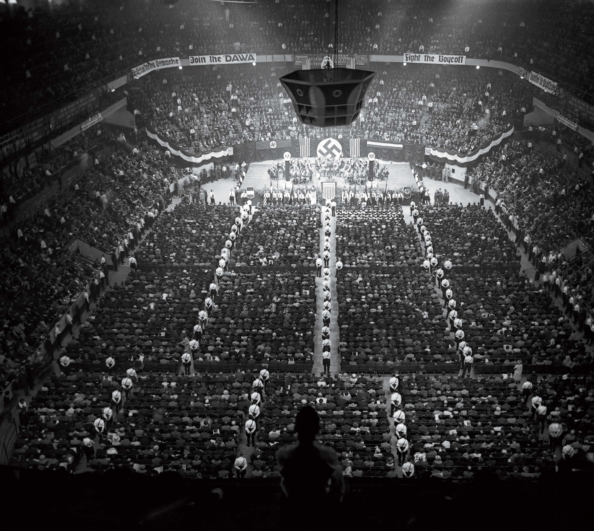In 1934, some 20,000 people rallied for Friends of New Germany, a U.S. Nazi group, at Madison Square Garden