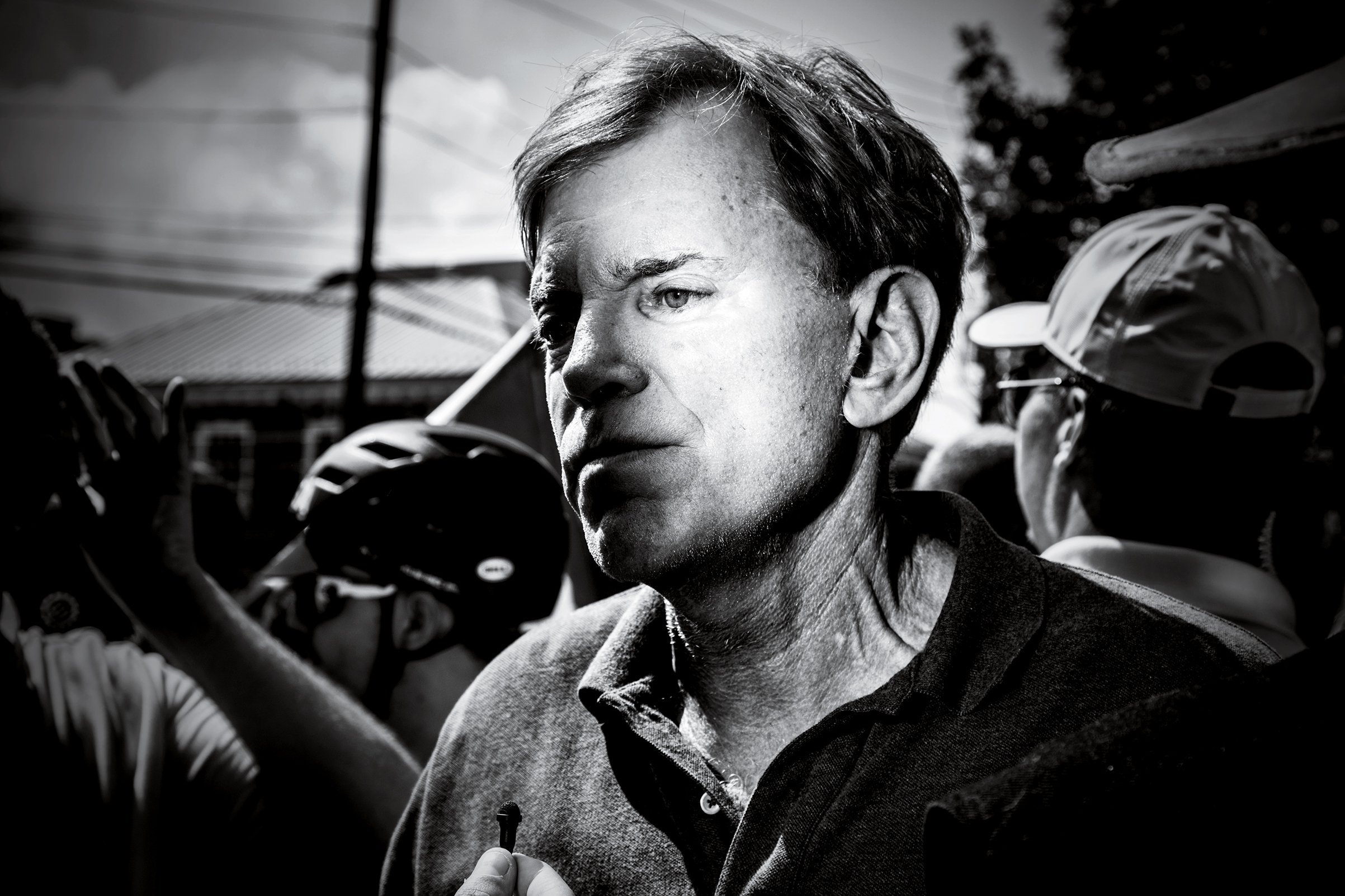 David Duke, the white nationalist and former KKK Grand Wizard, at the Unite the Right rally on Aug. 12