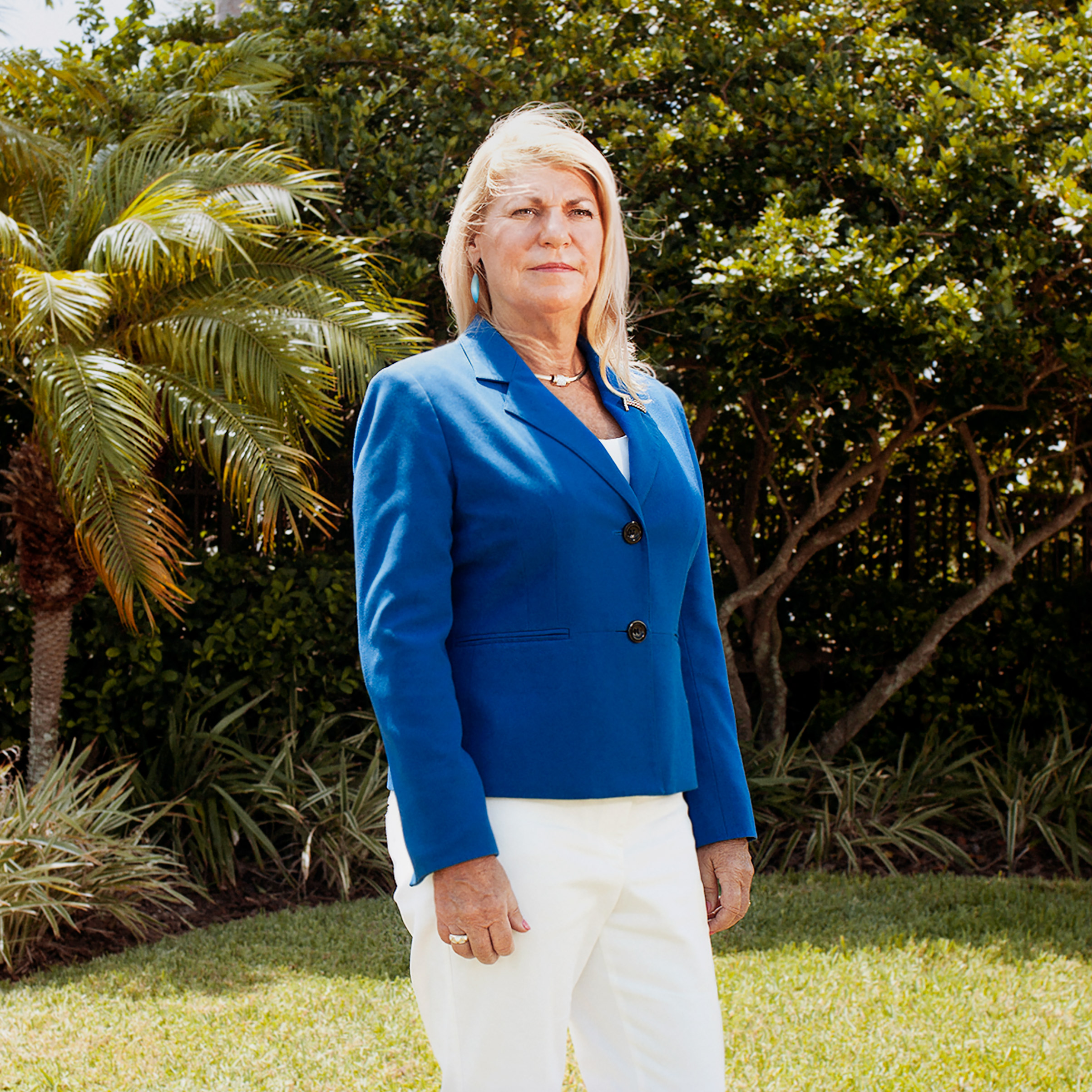 Portrait of General Ann Dunwoody, photographed in the compound of her home in Tampa, FL, August 26, 2016.