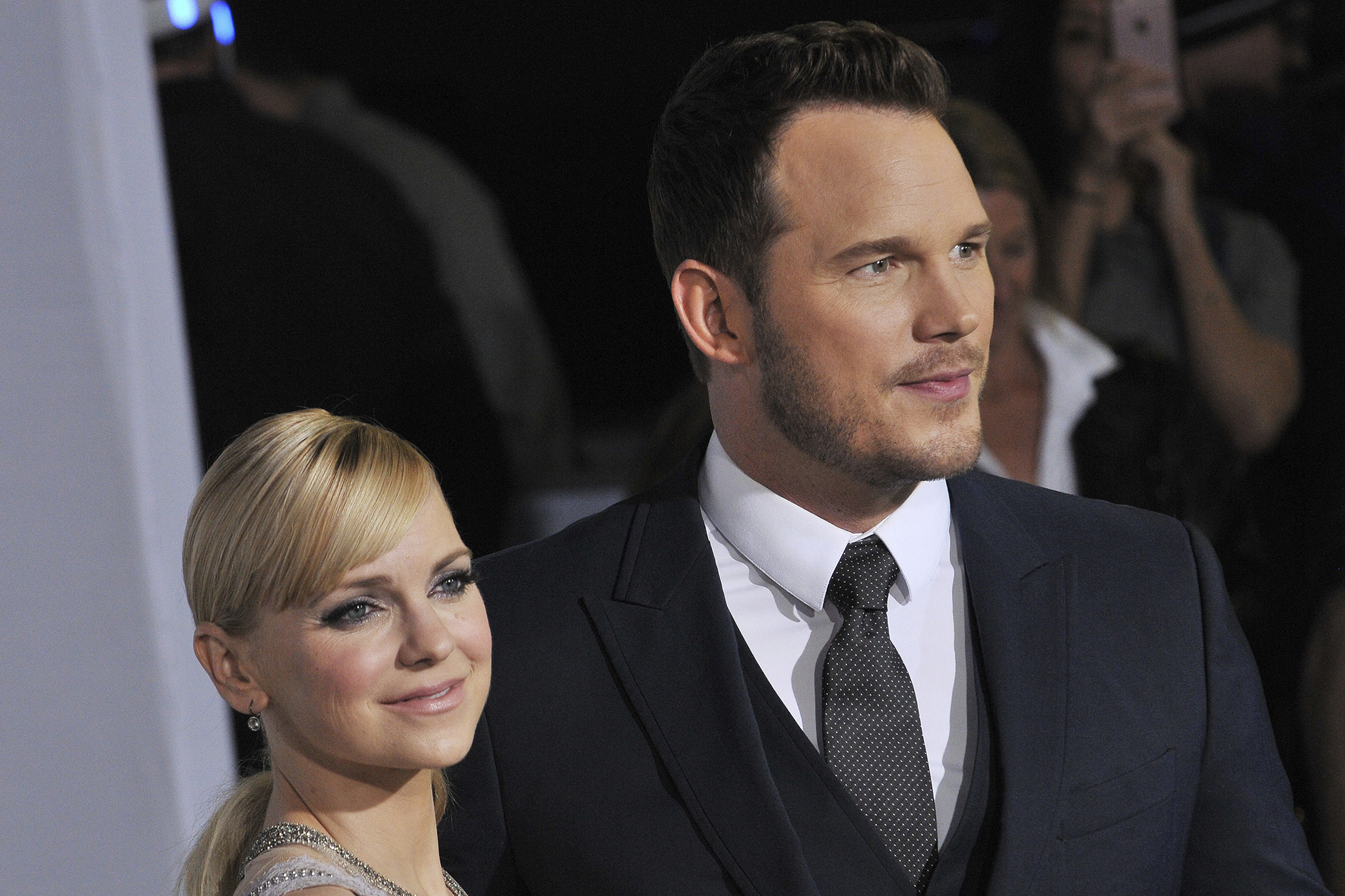 Anna Faris and Chris Pratt arrive at the  Passengers  Los Angeles Premiere held at the Fox Village Theatre in Westwood, CA on Dec. 14, 2016.