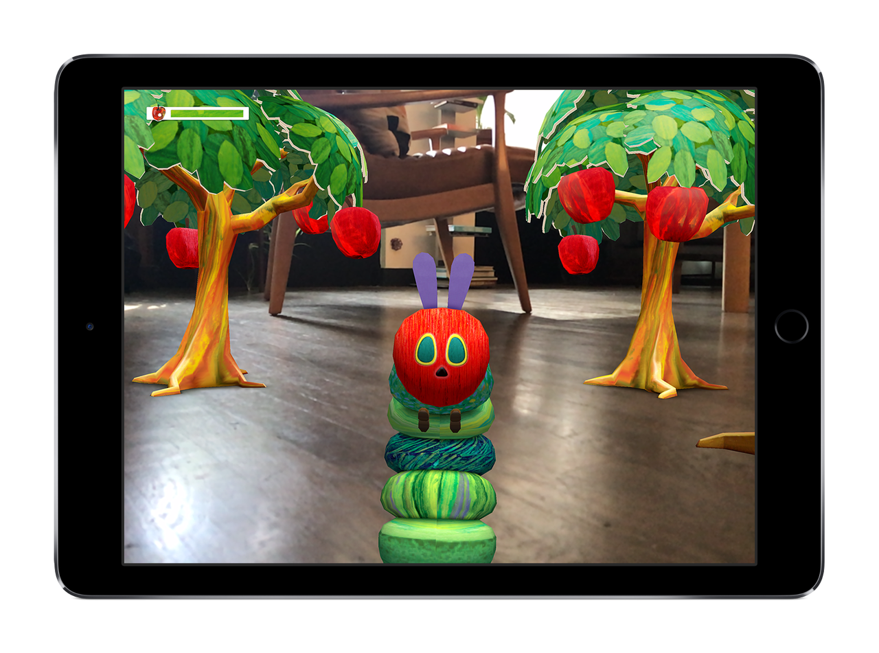 An Apple ARKit demonstration of Touch Press's The Very Hungry Caterpillar app
