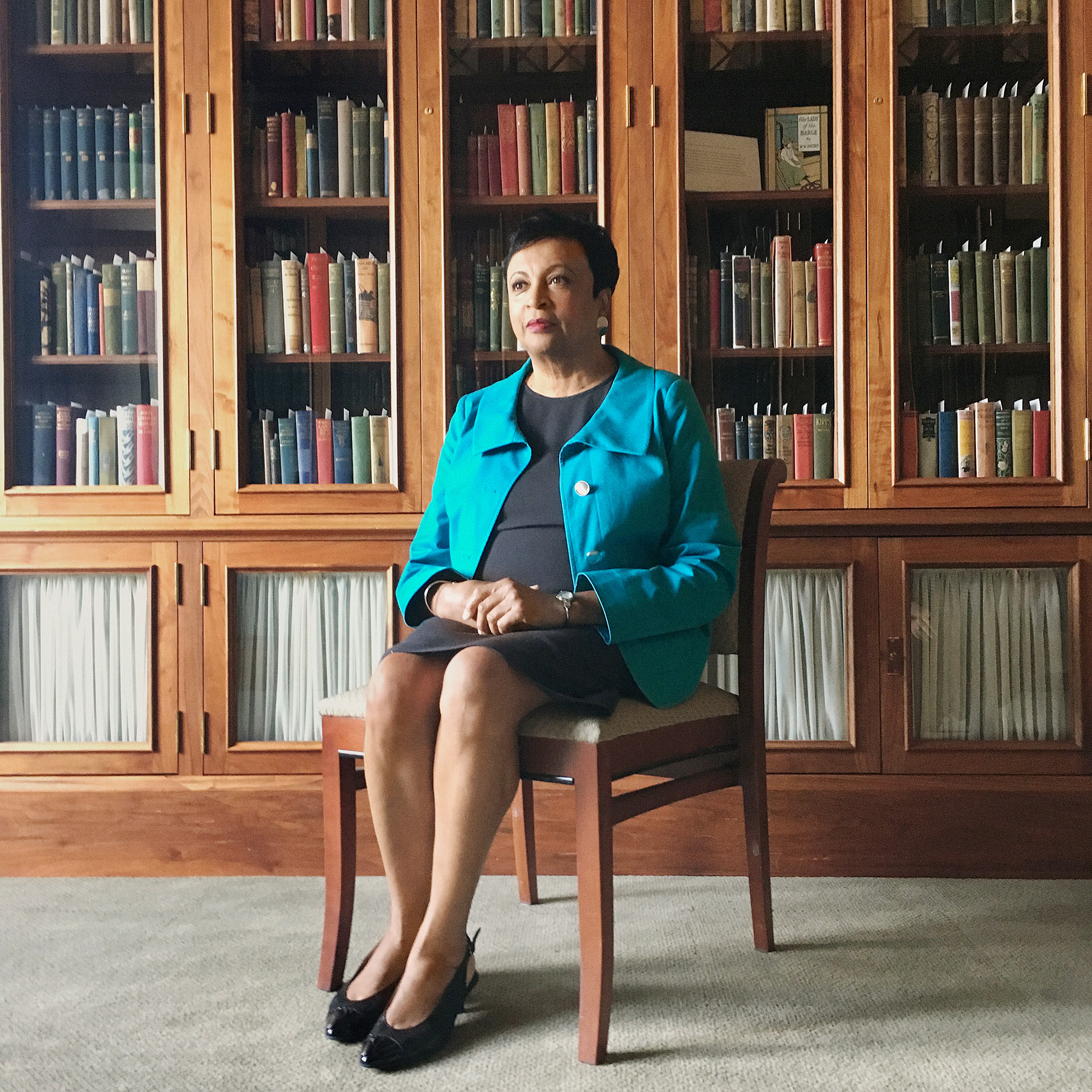 Portrait of Carla Hayden, photographed at the Library of Congress in Washington, DC, August 31, 2016.