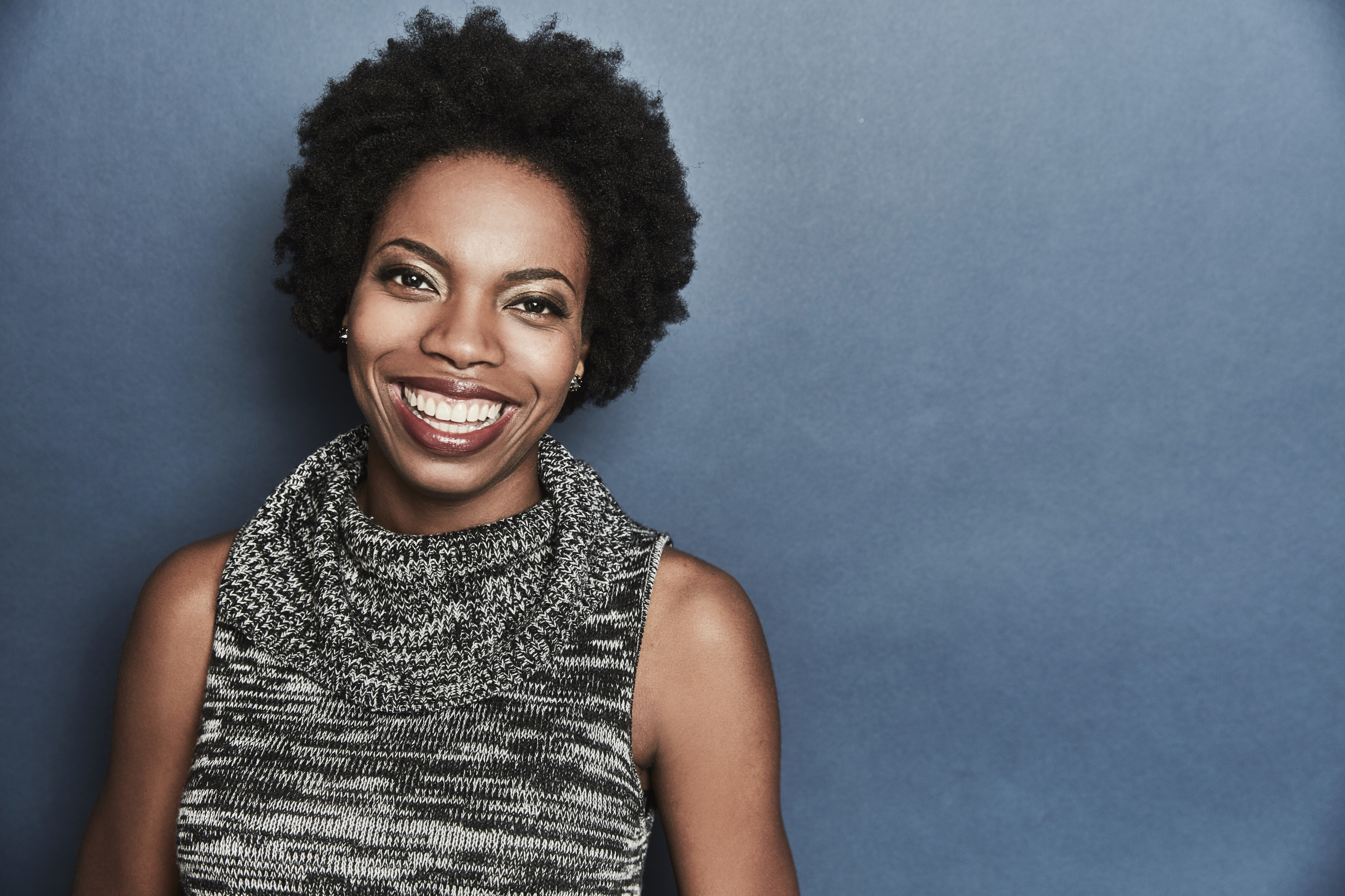 Sasheer Zamata of the film 'Deidra & Laney Rob A Train' poses for a portrait at the 2017 Sundance Film Festival Getty Images Portrait Studio presented by DIRECTV on January 23, 2017 in Park City, Utah.
