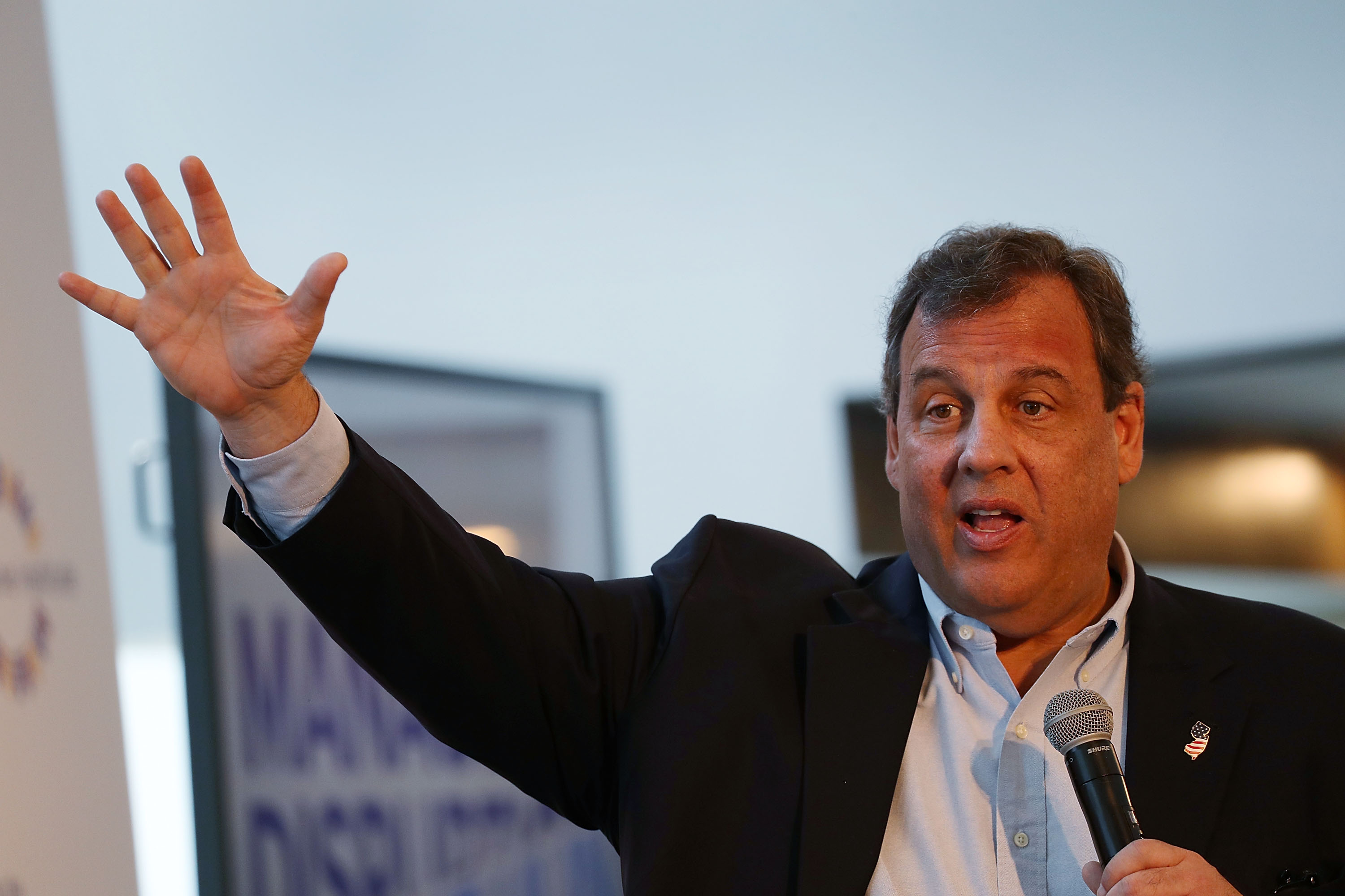 New Jersey Gov. Chris Christie speaks during the  Managing the Disruption  conference held at the Tideline Ocean Resort on April 3, 2017 in Palm Beach, Florida.