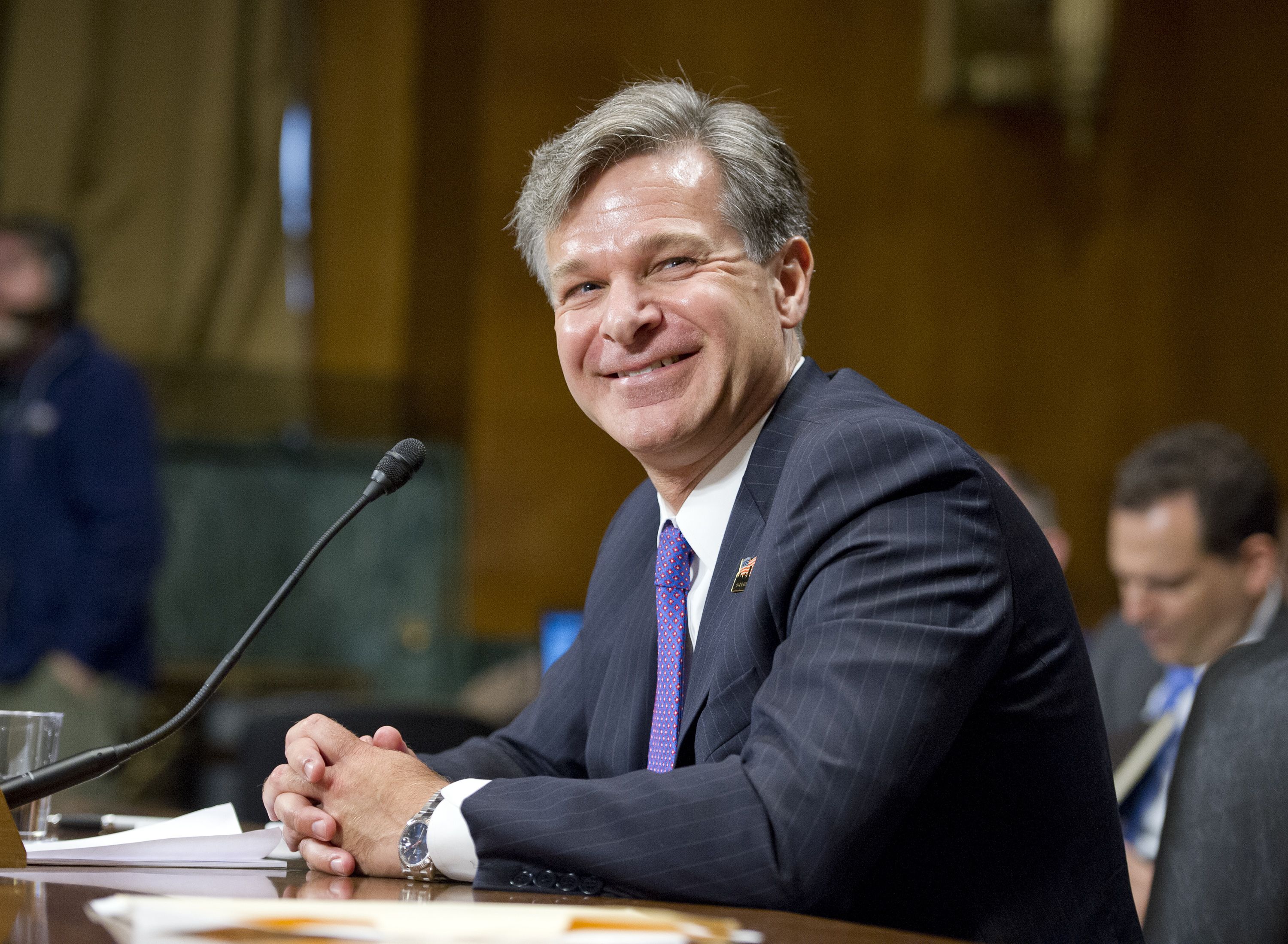 Christopher Wray testifies on his nomination to be Director of the FBI before the U.S. Senate Committee on the Judiciary in Washington, D.C. on July 12, 2017.