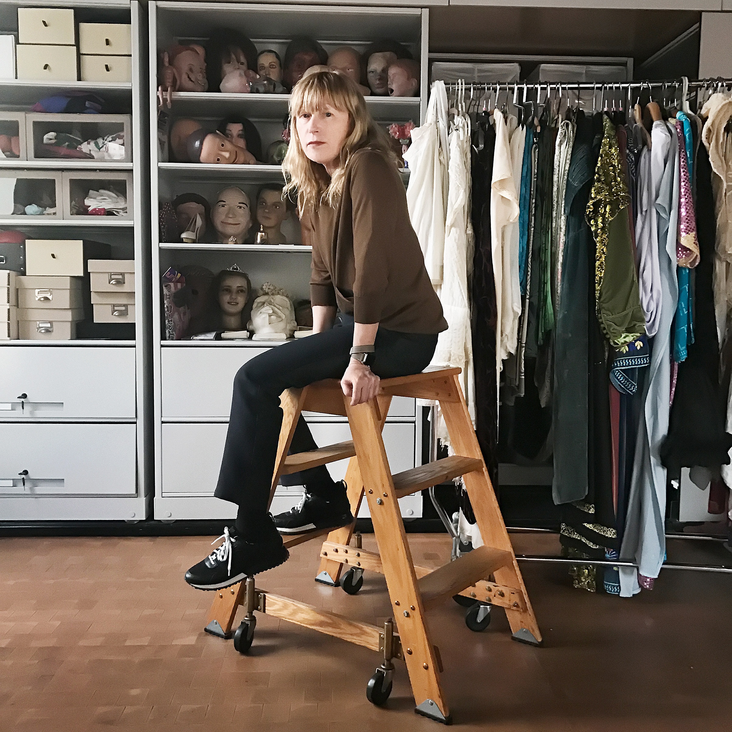 Portrait of Cindy Sherman, photographed in her studio loft in the Greenwich Village, NYC, on February 15, 2017.