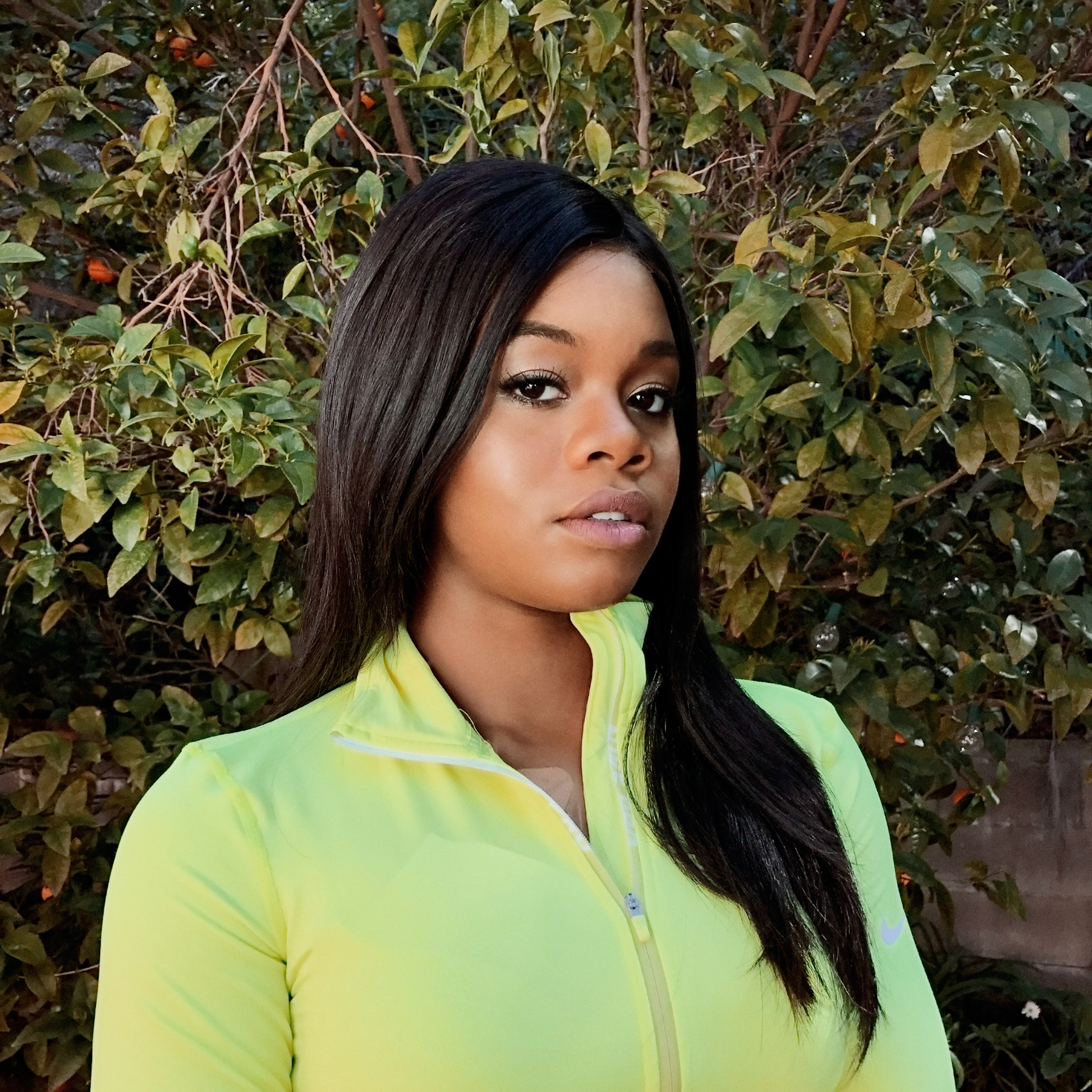 Portrait of Gabby Douglas, photographed at her home in Tarzana, CA, on March 1, 2017.