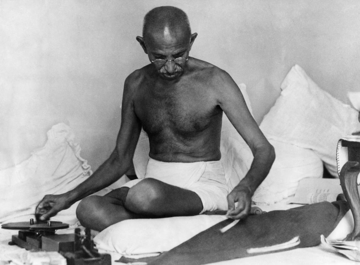 Mohandas Gandhi photographed in 1942