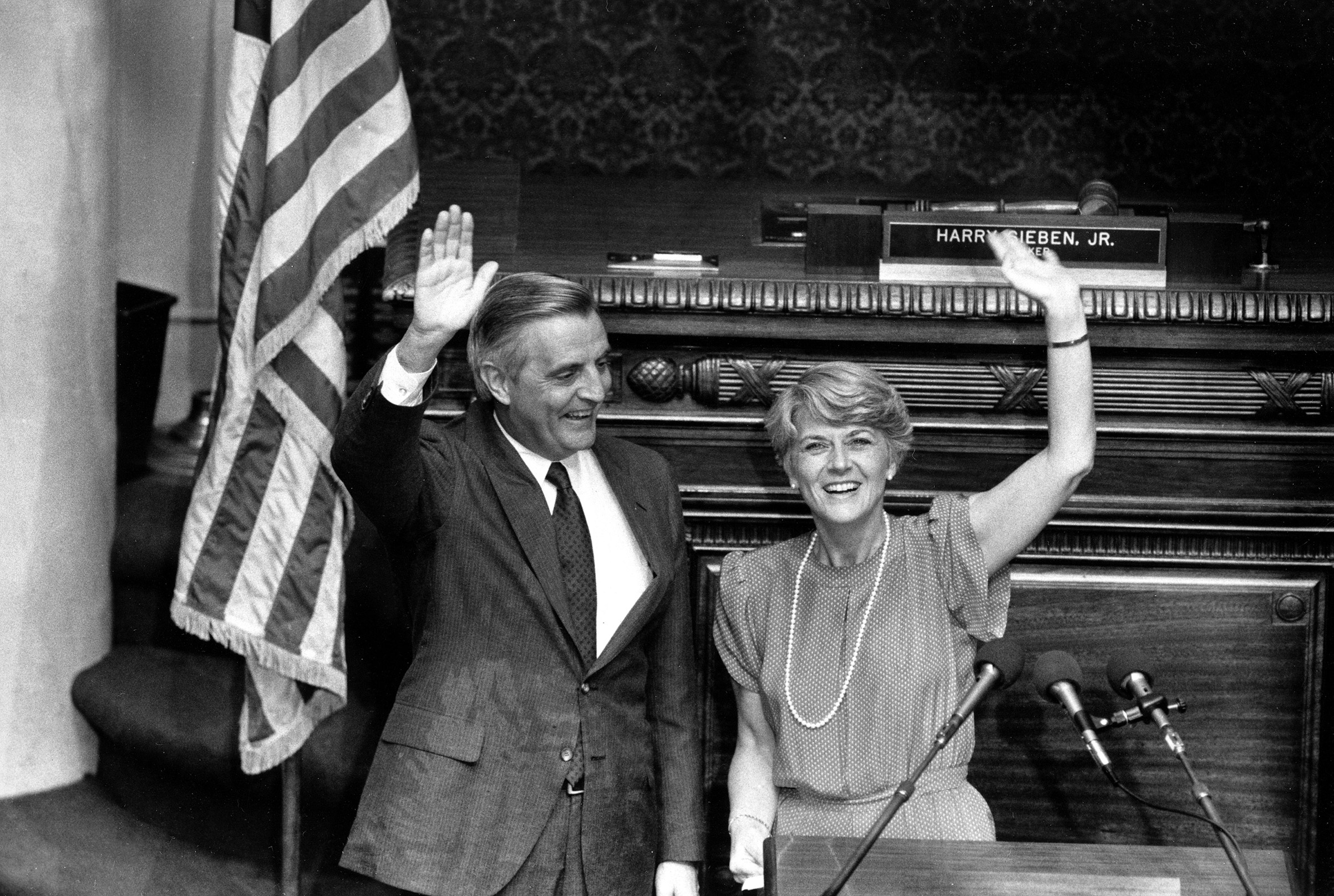 GERALDINE FERRARO became the first female vice presidential candidate to represent a major American political party in 1984.
