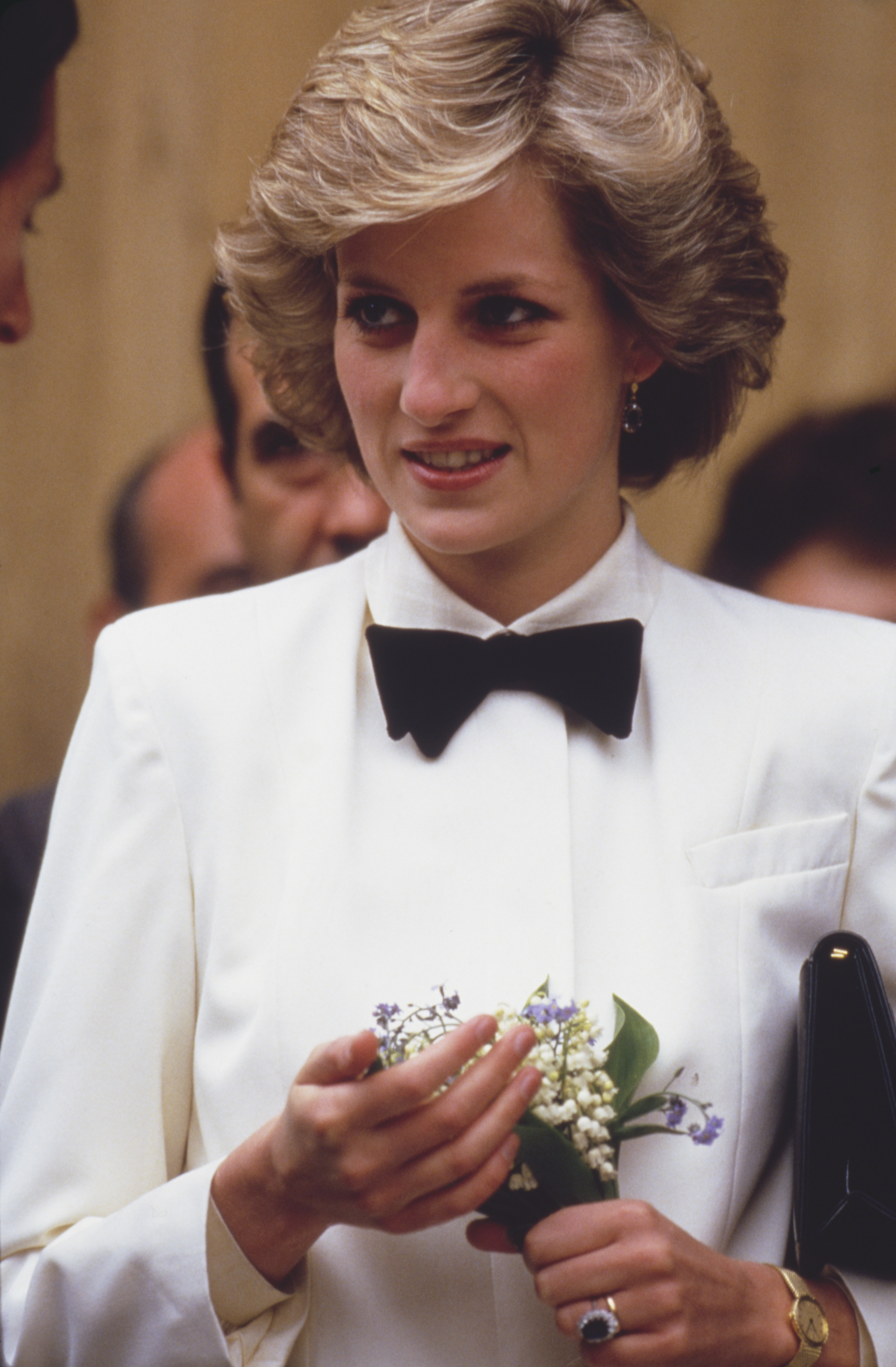 Princess Di had a menswear moment during a trip to Italy in April 1985.