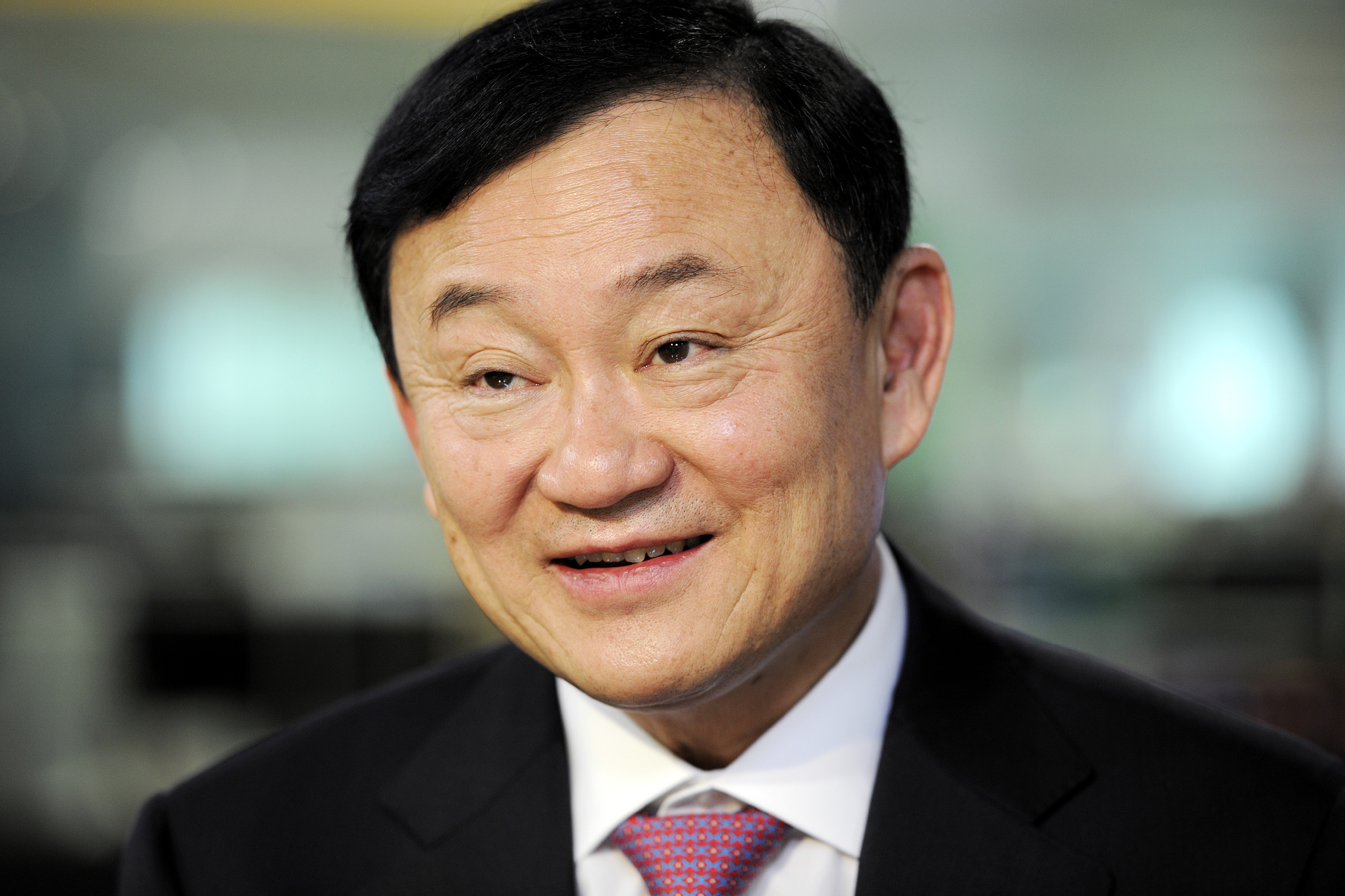 Thaksin Shinawatra, former prime minister of Thailand, during an interview in Singapore, on Sept. 24, 2012.