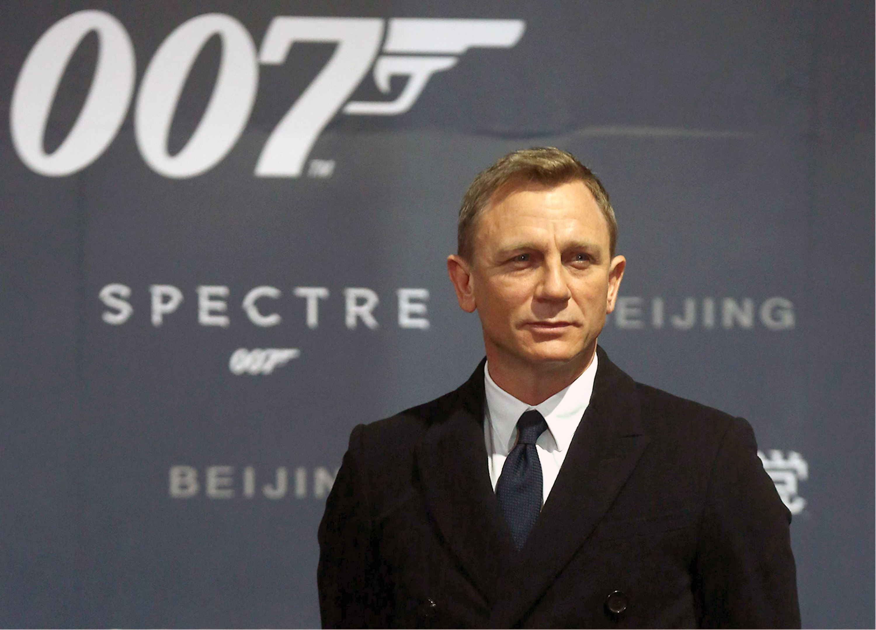 Actor Daniel Craig attends 'Spectre' premiere at The Place on Nov. 12, 2015 in Beijing, China.