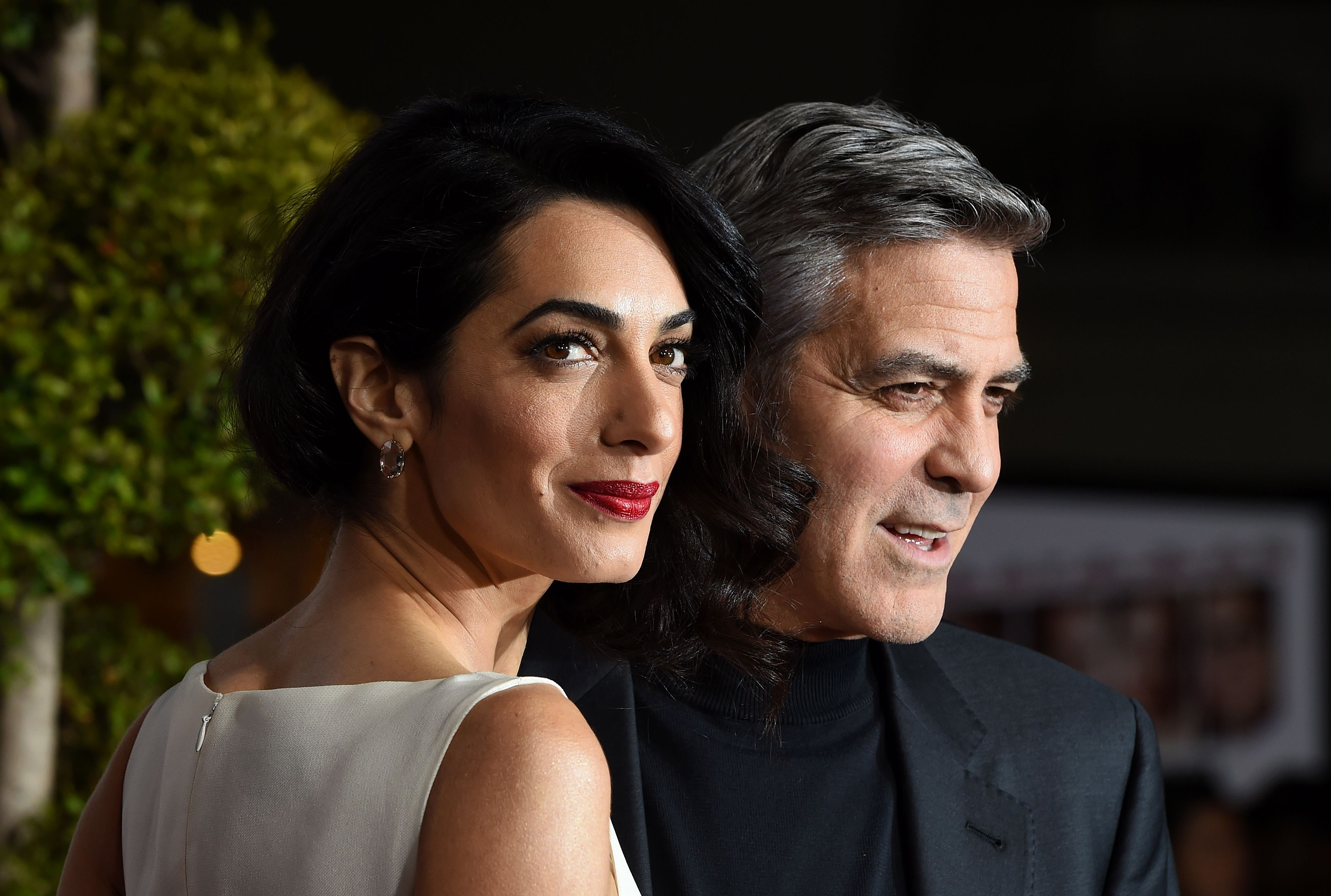 George and Amal Clooney at The Universal Premiere of 'Hail, Caesar!' in Westwood, Calif., Feb. 1, 2016.