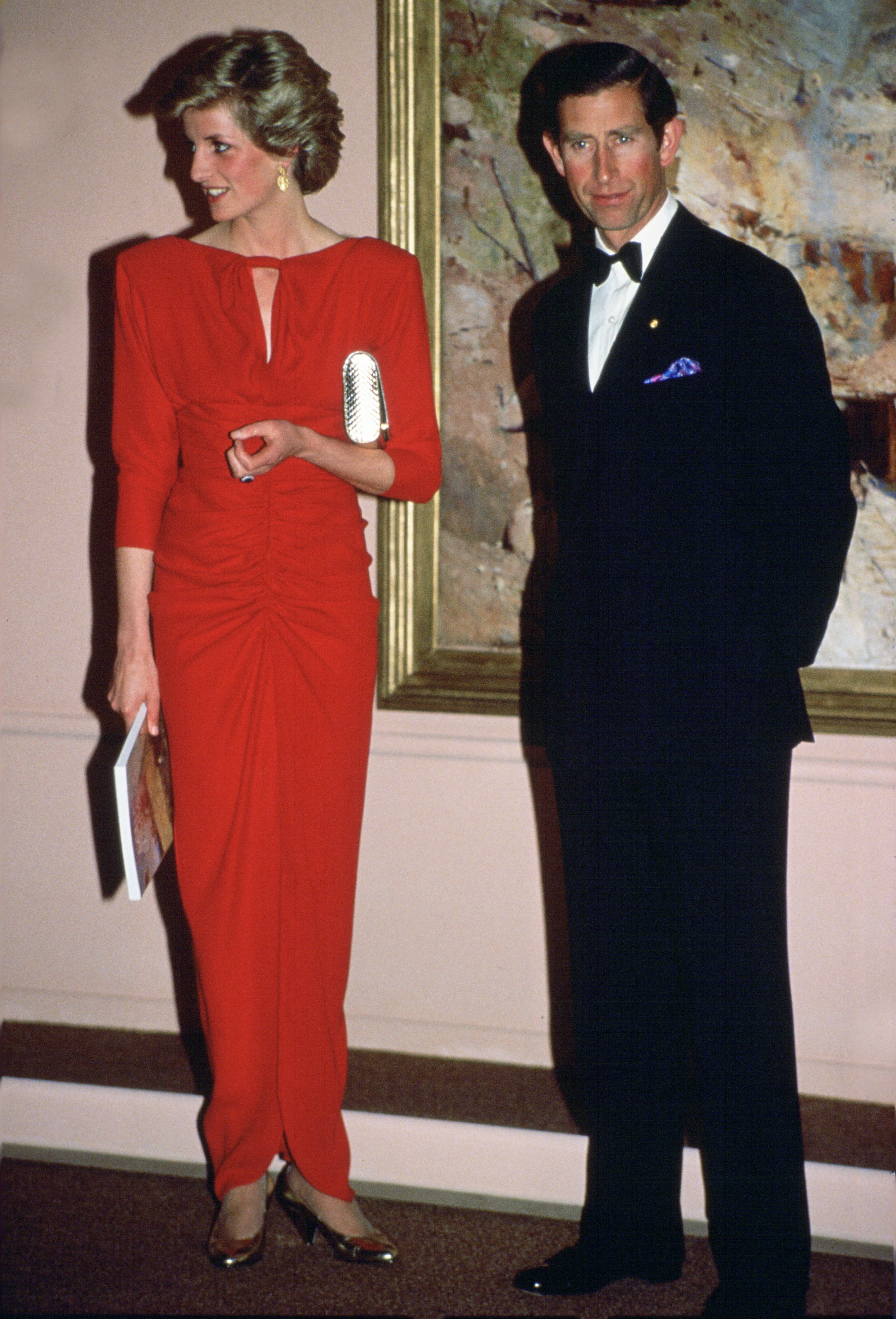 Princess Di's sleek red Bruce Oldfield gown that she donned for a trip to Australia was a far cry from the floral and frilly dresses she had worn in her early days as a princess.