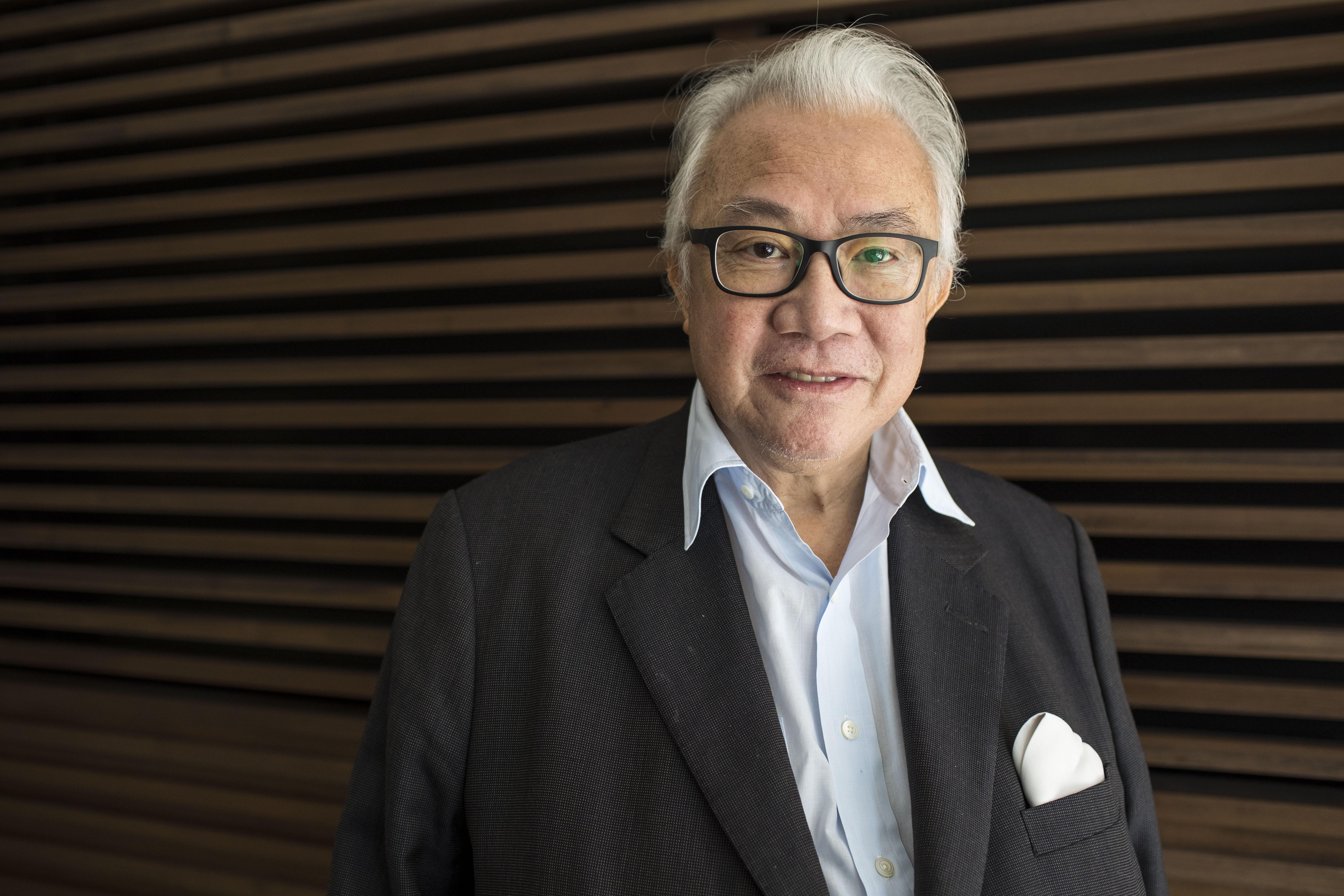 Sir David Tang, Hong Kong entrepreneur, at the FT Weekend Oxford Literary Festival on April 1, 2017 in Oxford, England.