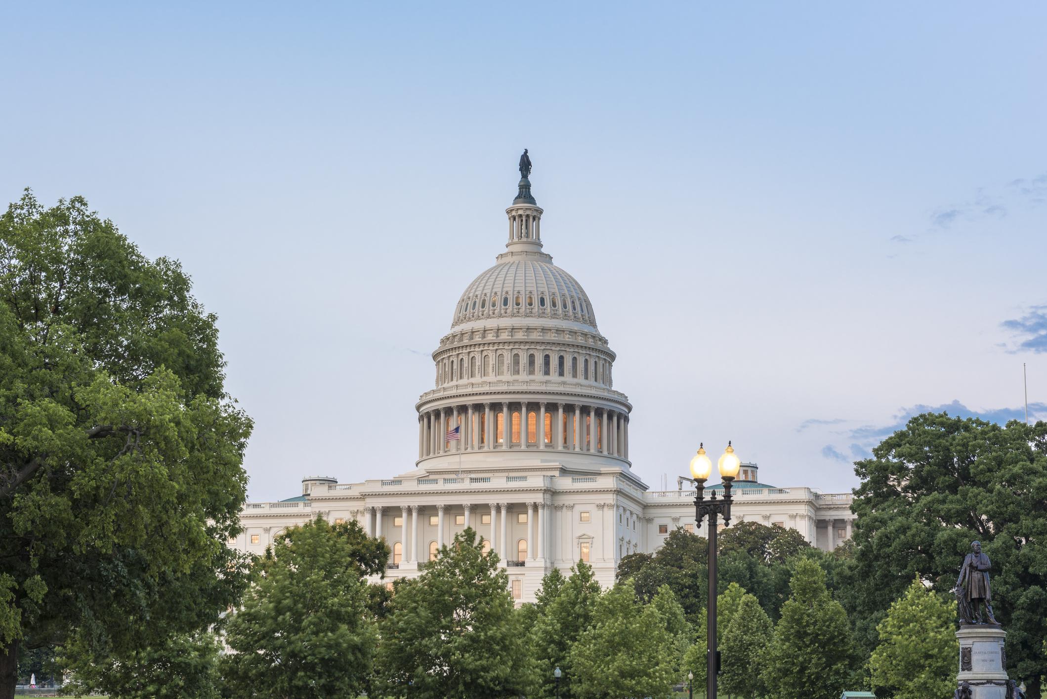 U.S. Capitol building in Washington DC.