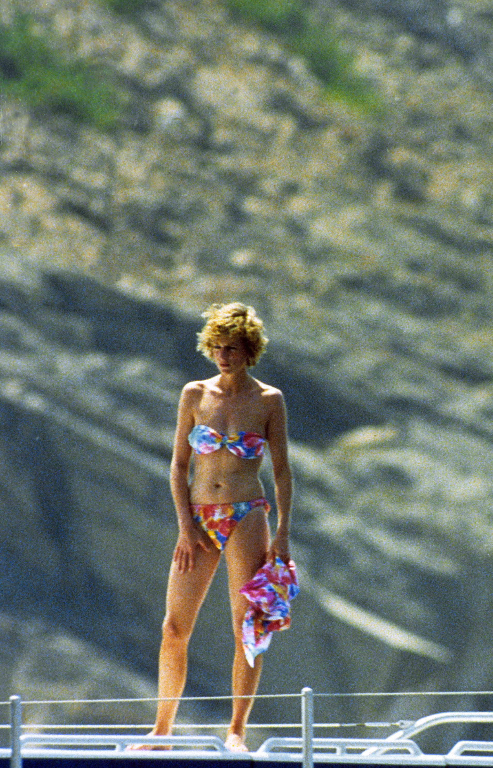 While vacationing in the South of France in 1997, Princess Diana sported a floral bikini; she later died in a car crash on that same trip.