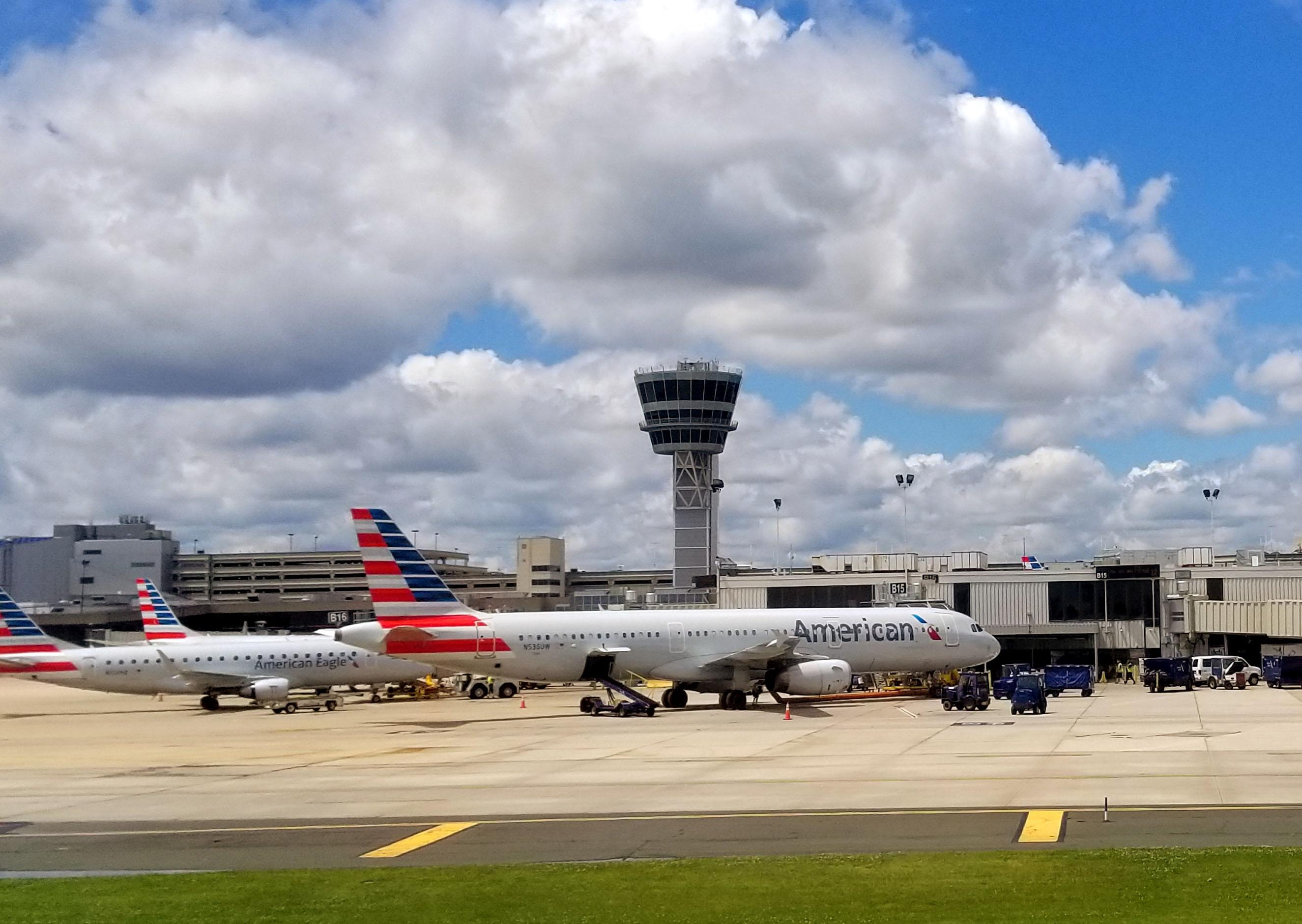 American Airlines planes are viewed at Philadelphia International Airport on July 7, 2017 in Philadelphia, Pennsylvania. DANIEL SLIM—AFP/Getty Images