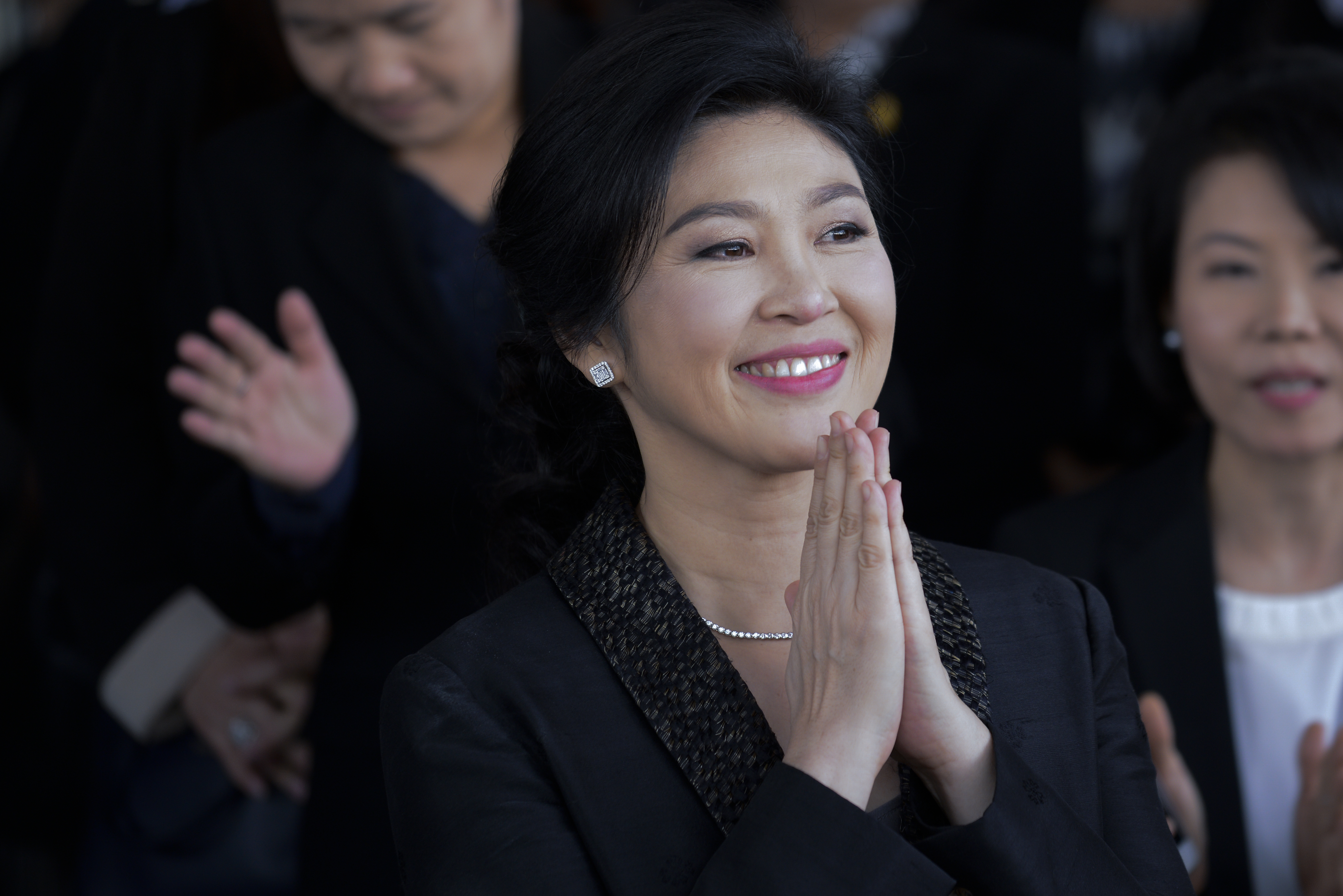 Former Thailand Prime Minister Yingluck Shinawatra arrives at the Supreme Court in Bangkok Thailand, Bangkok, Thailand on Aug. 1, 2017.