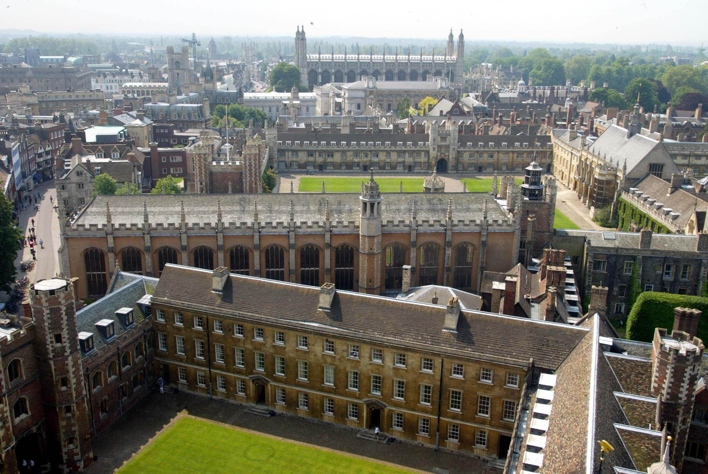 Aerial View of Cambridge city centre taken from St. John's College.