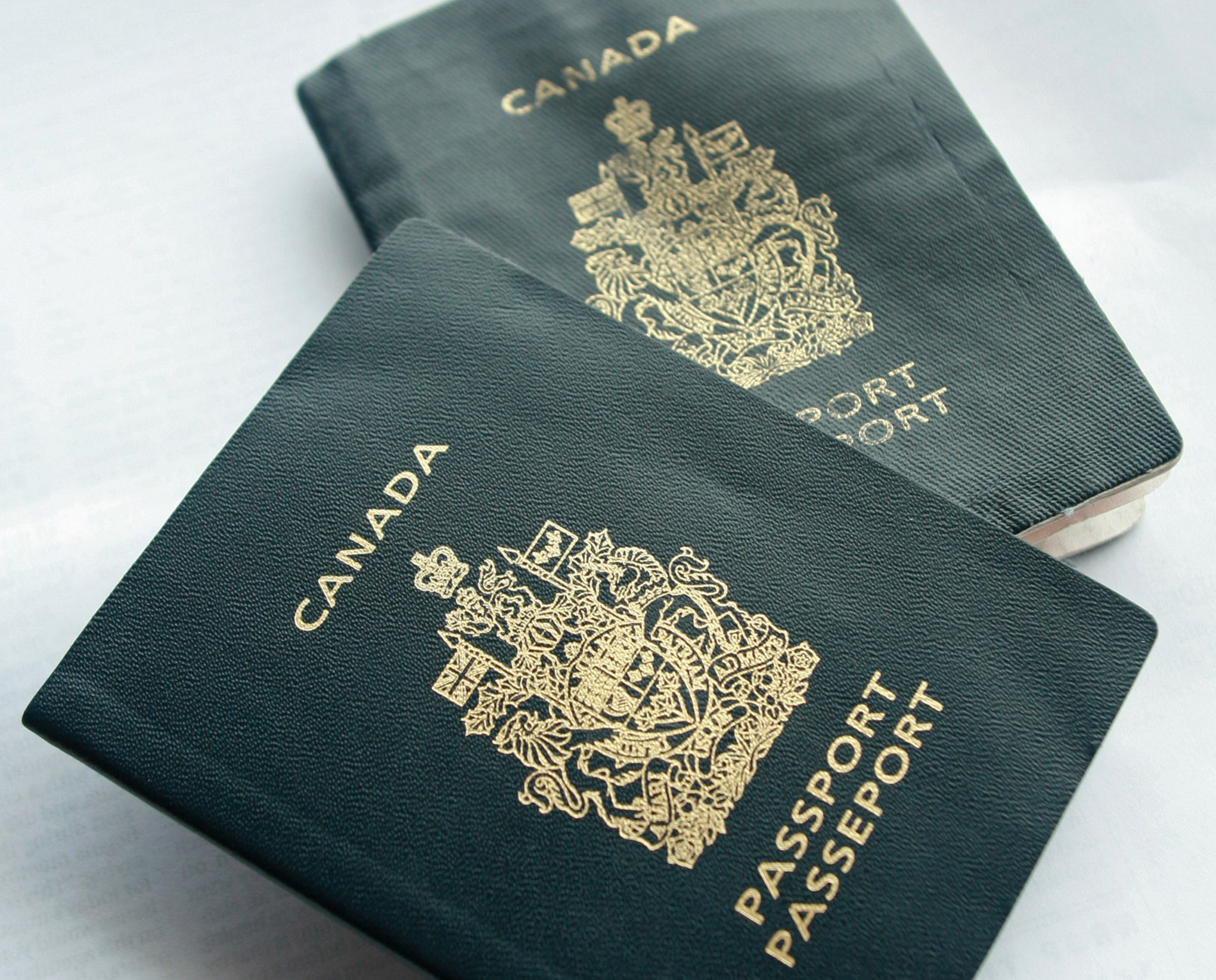 This Jan. 22. 2007 file photo shows two Canadian passports.