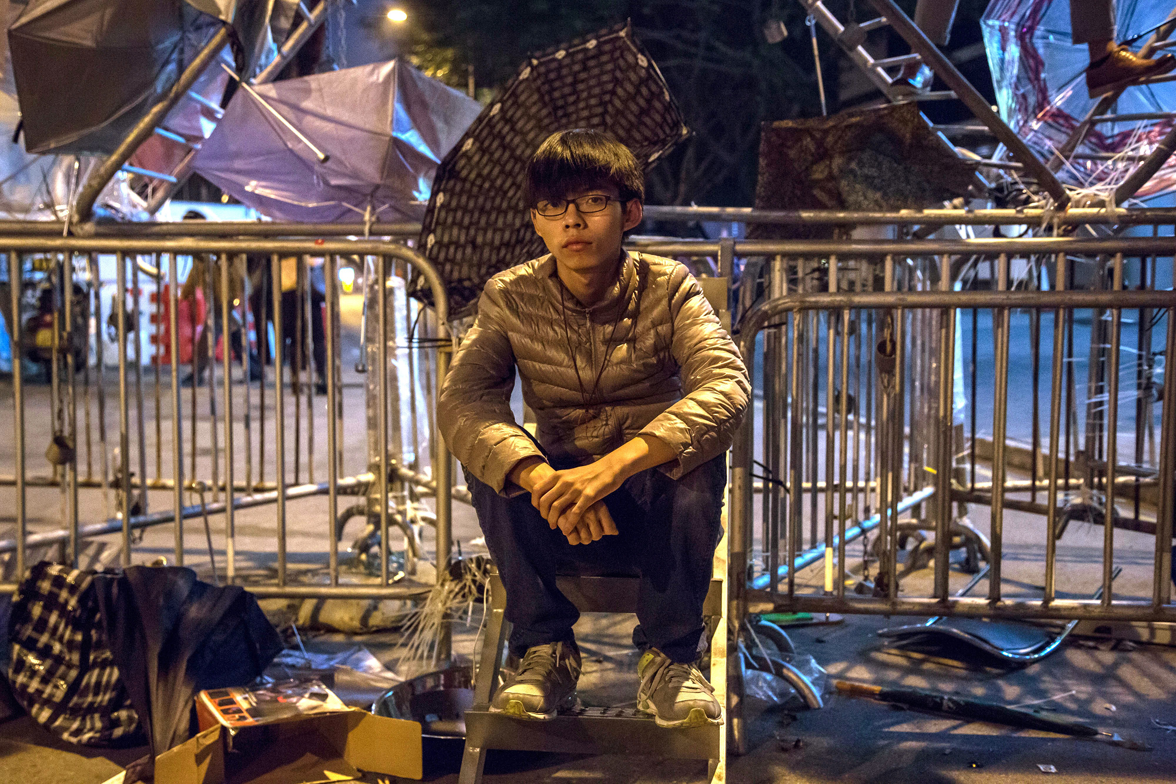 Wong helped kick-start the Umbrella Movement protests in 2014, when he was 17 years old