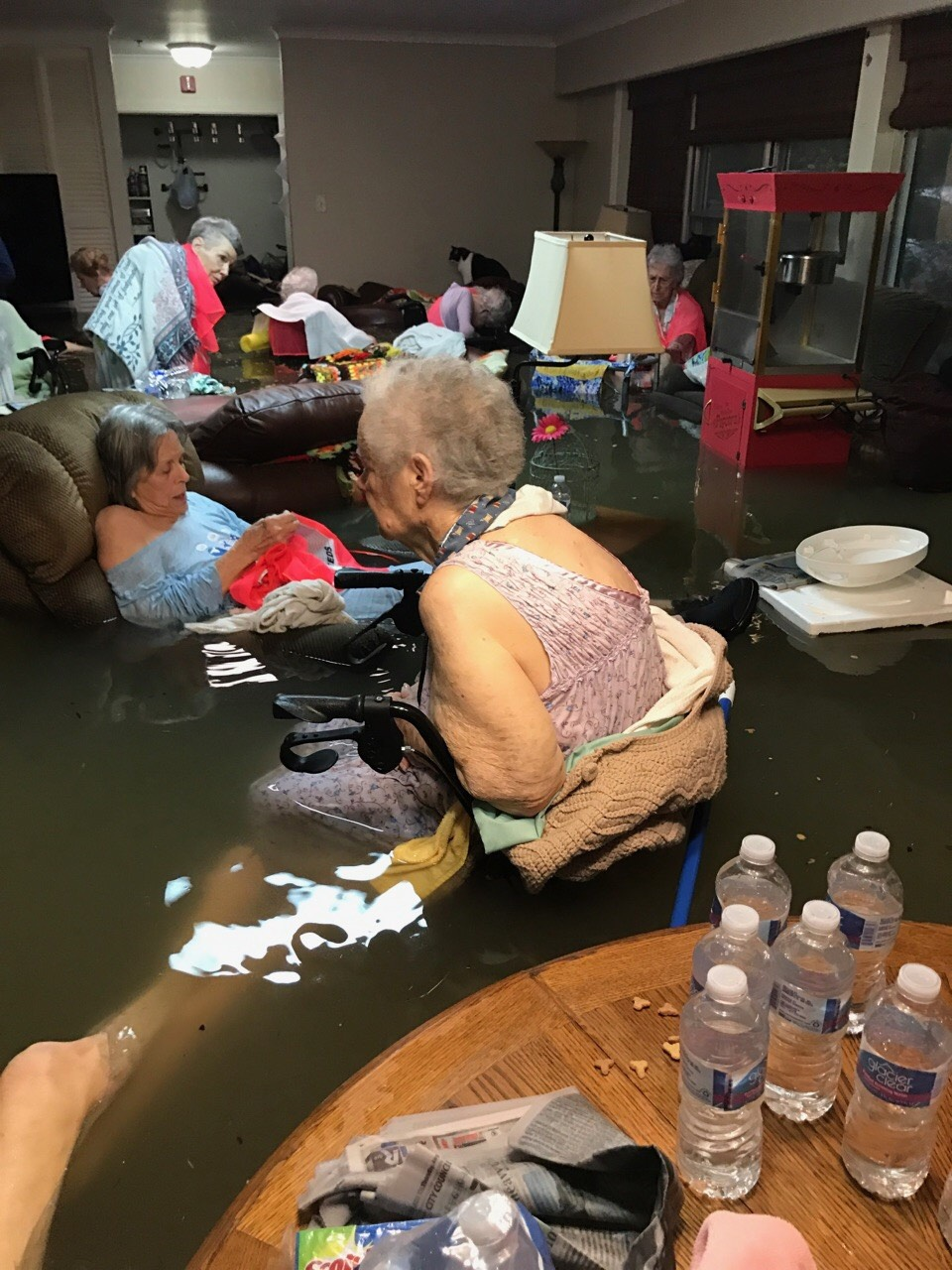 Going viral can actually help. Take for example this photo of an elderly woman legs vanished in the waist high as the flood waters overwhelmed a  La Vita Bella Nursing Home in Dickinson Texas due to Hurricane Harvey in August. The owners of the living center posted it to Twitter asking for help. Rescue teams answered with air lifts. It was one of the many ways people harnessed the power of social media after disaster hit this year.