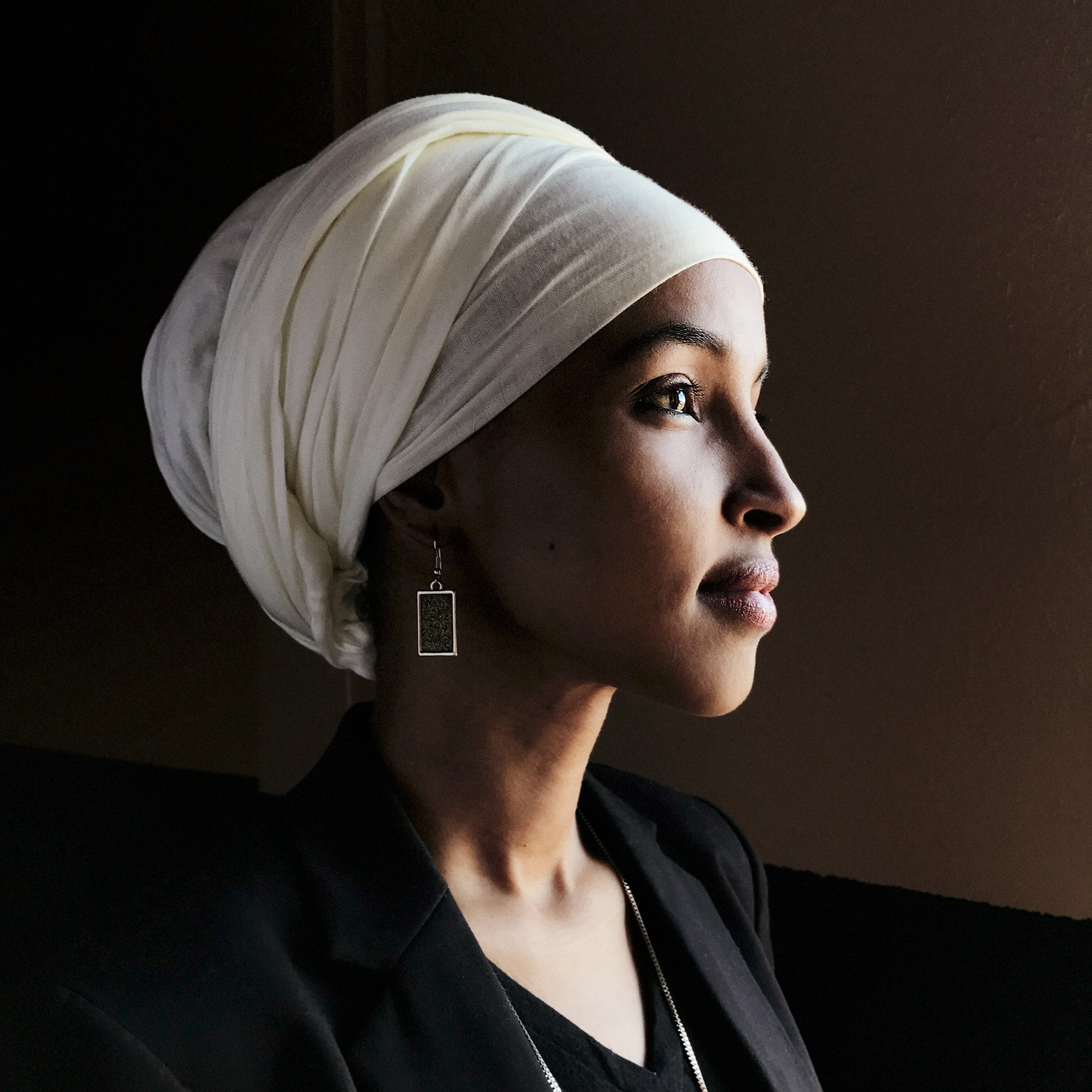 Portrait of Ilhan Omar, photographed at her offices in Minneapolis, Feb. 17, 2017.