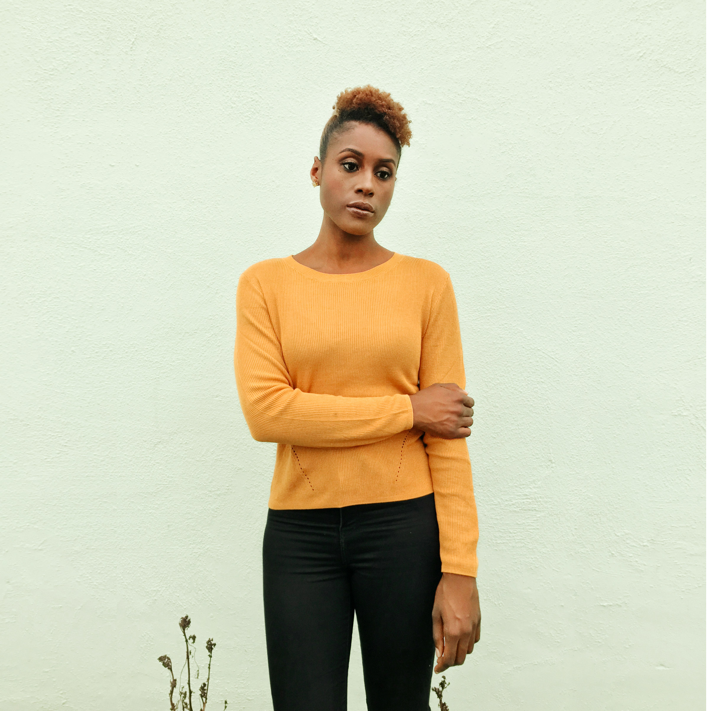 Portrait of Issa Rae, photographed in Culver City, Los Angeles, October 29, 2016.