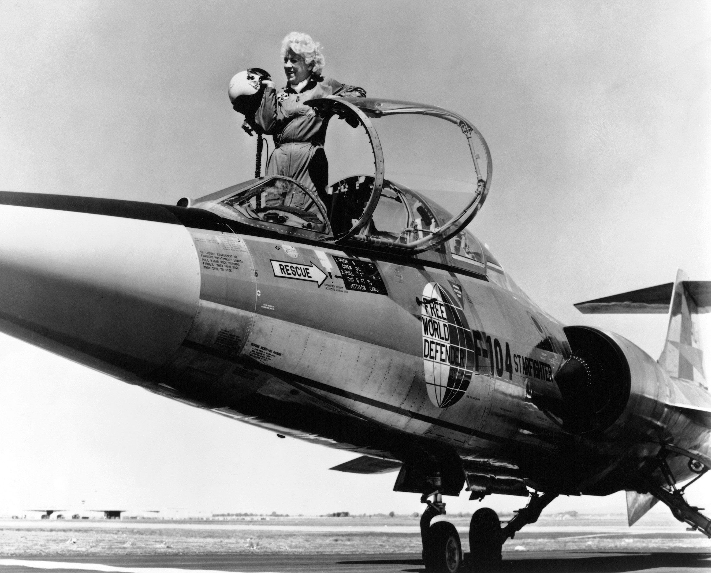 JACQUELINE COCHRAN became the first woman to break the sound barrier in 1953.