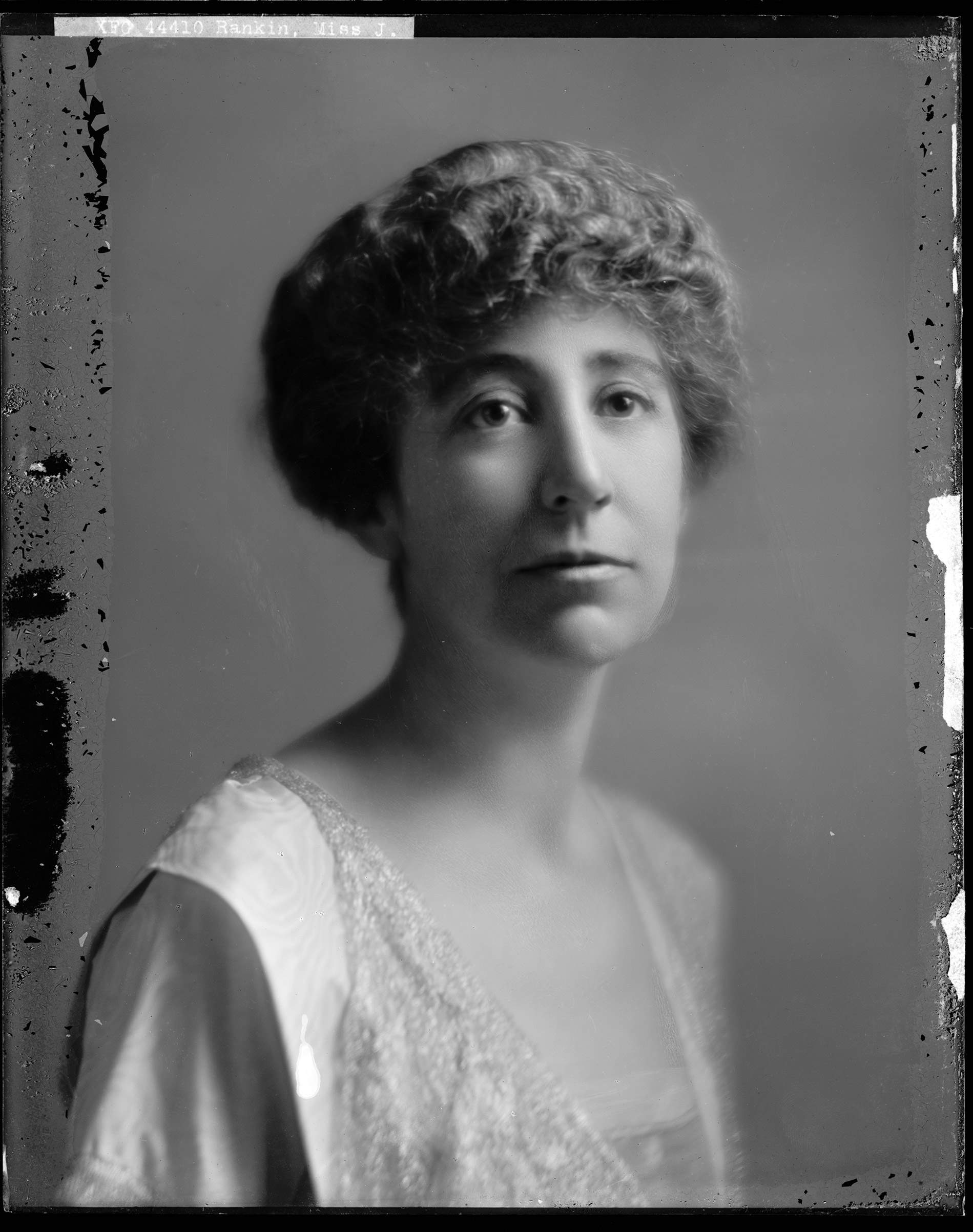 JEANNETTE RANKIN became the first woman to be elected to Congress in 1916 (representing Montana).