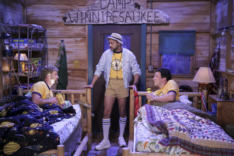 Justin Timberlake, Keegan-Michael Key, and Jimmy Fallon during  Camp Winnipesaukee  on August 8, 2017.