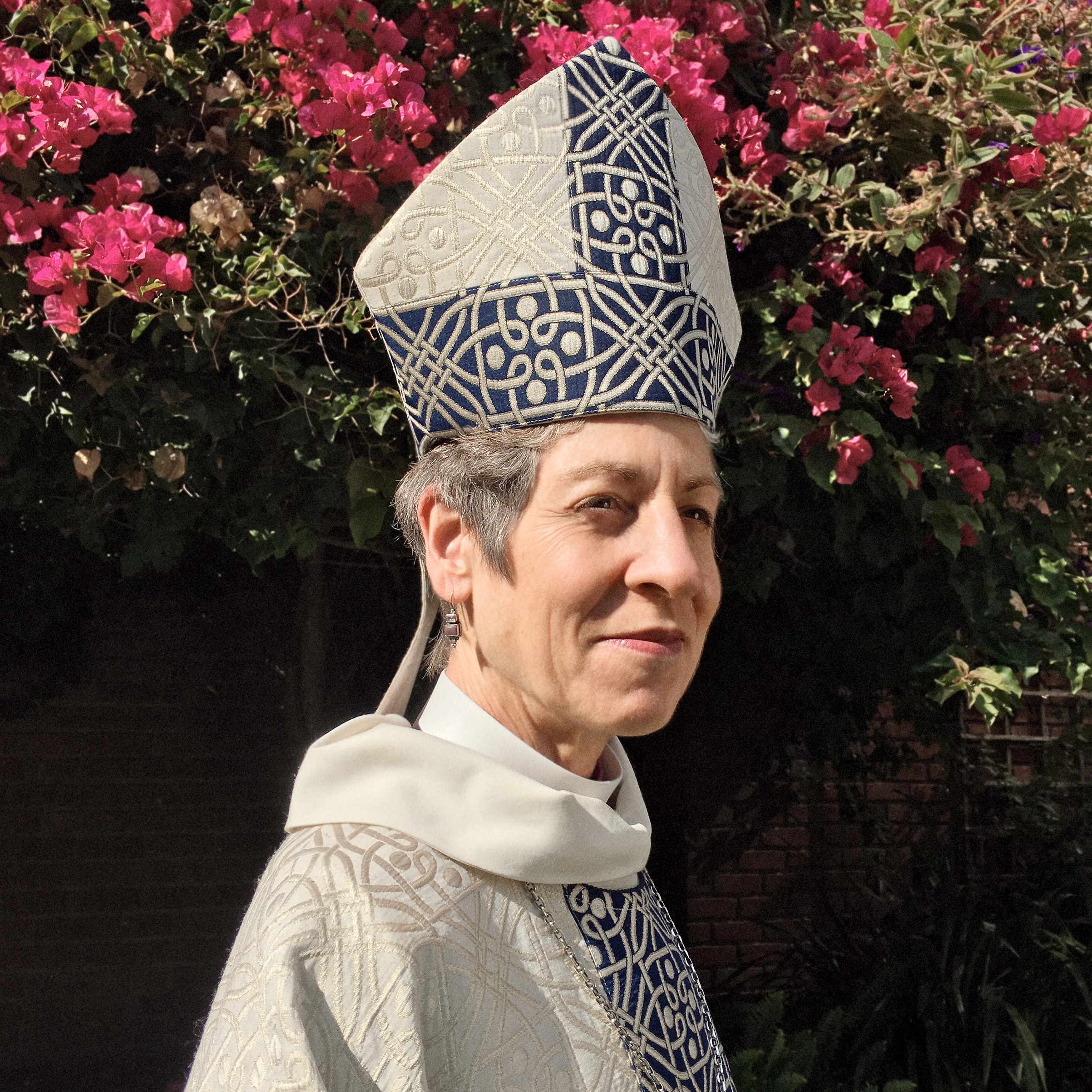Portrait of Bishop Katharine Jefferts Schori, photographed at the Church of Divinity School of the Pacific in Berkeley, CA, September 8, 2016.
