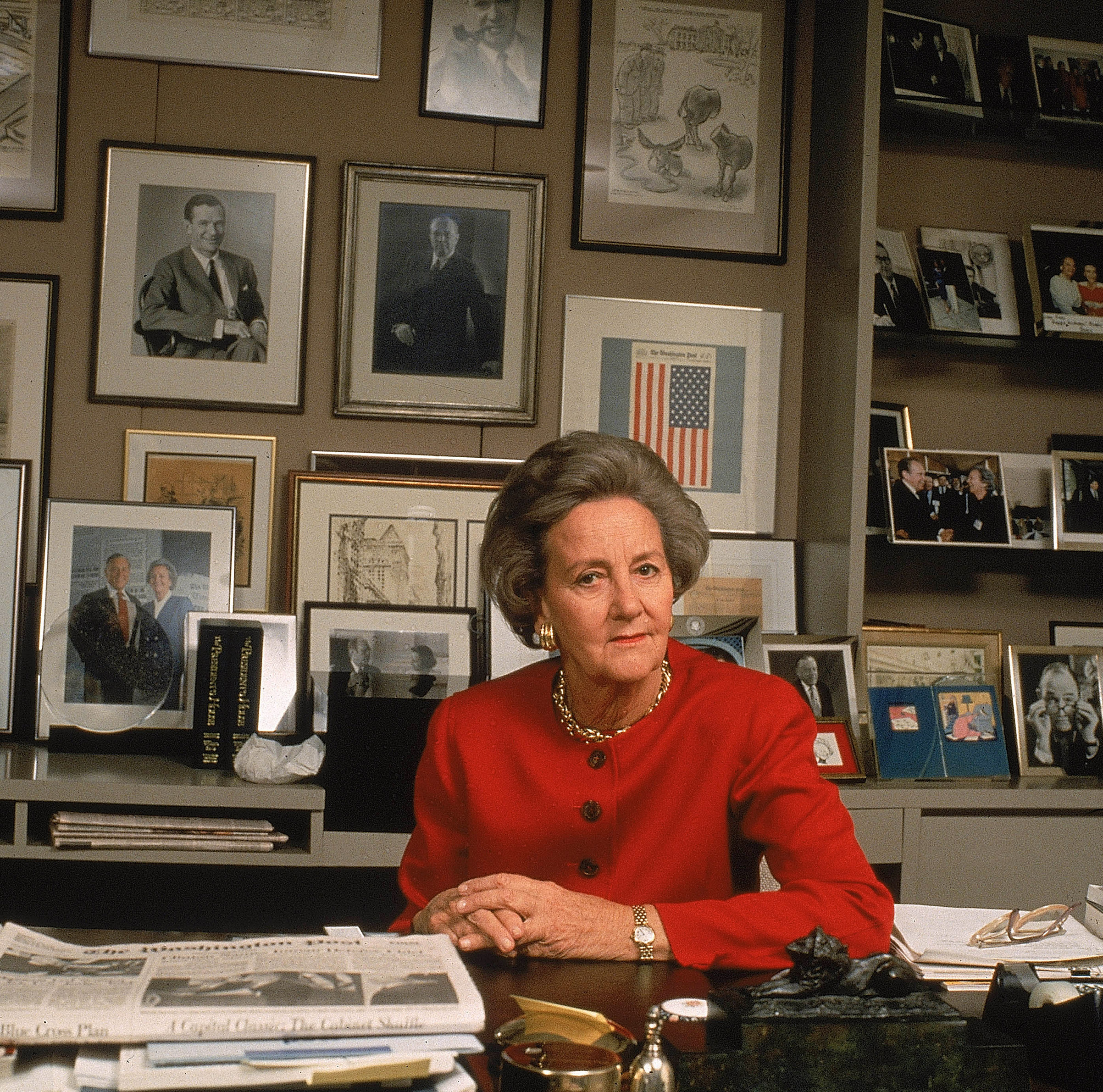 KATHARINE GRAHAM became the first female Fortune 500 CEO as CEO of the Washington Post in 1972.