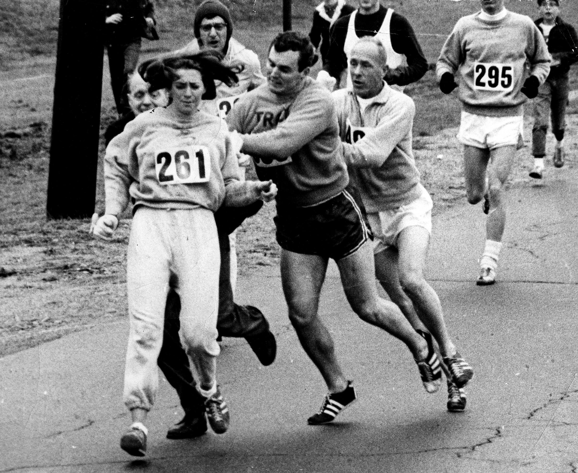 KATHY SWITZER became the first woman to run the Boston marathon in 1967.