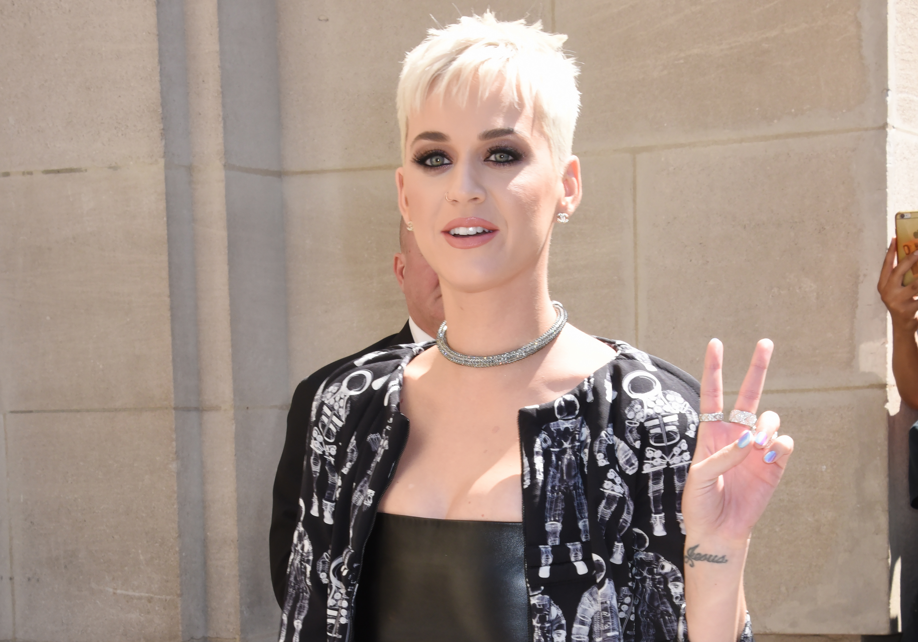 Katy Perry attends the Chanel Haute Couture Fall/Winter 2017-2018 show as part of Paris Fashion Week on July 4, 2017 in Paris, France.