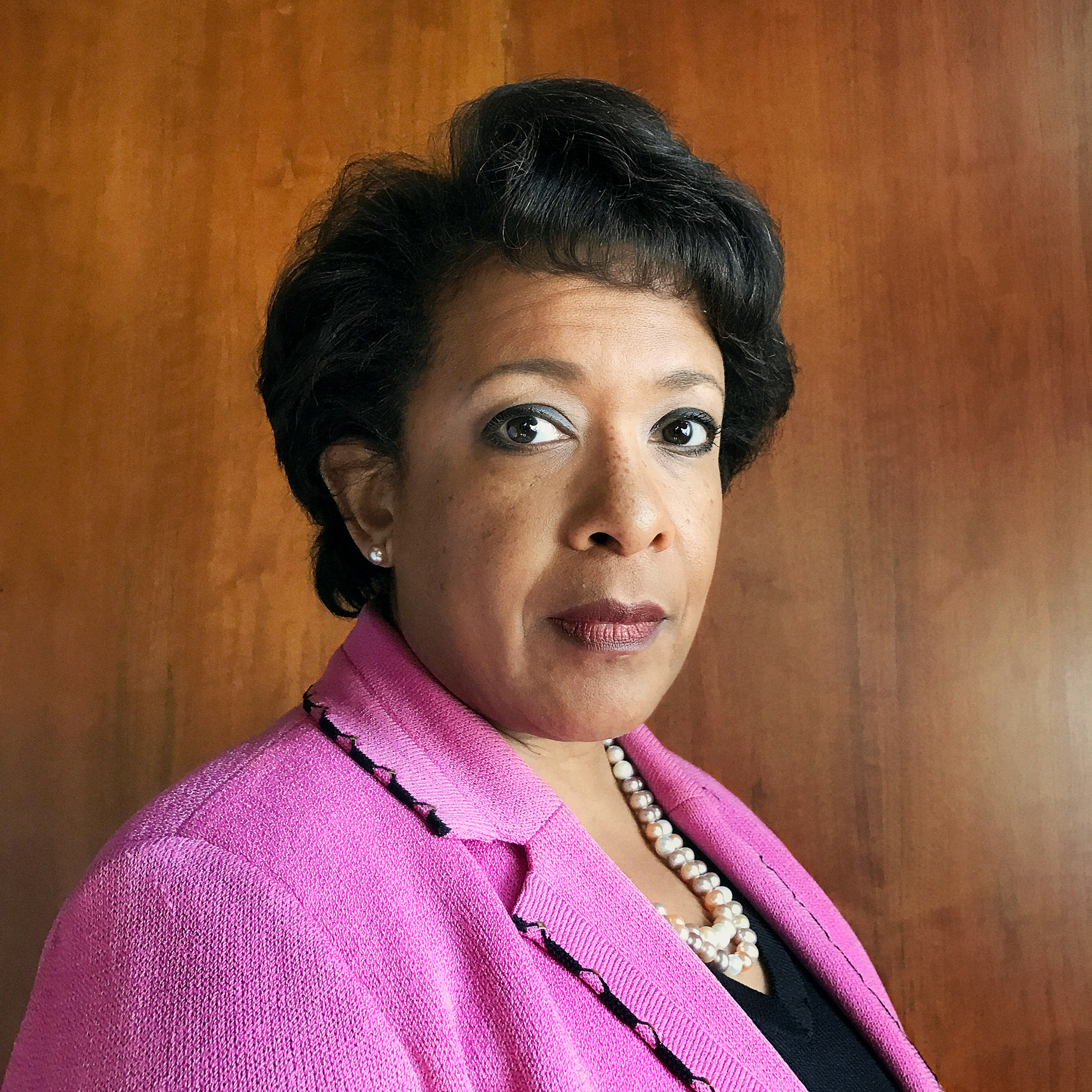 Portrait of Attorney General Loretta Lynch, photographed in her office, Washington, D.C., October 14, 2016.