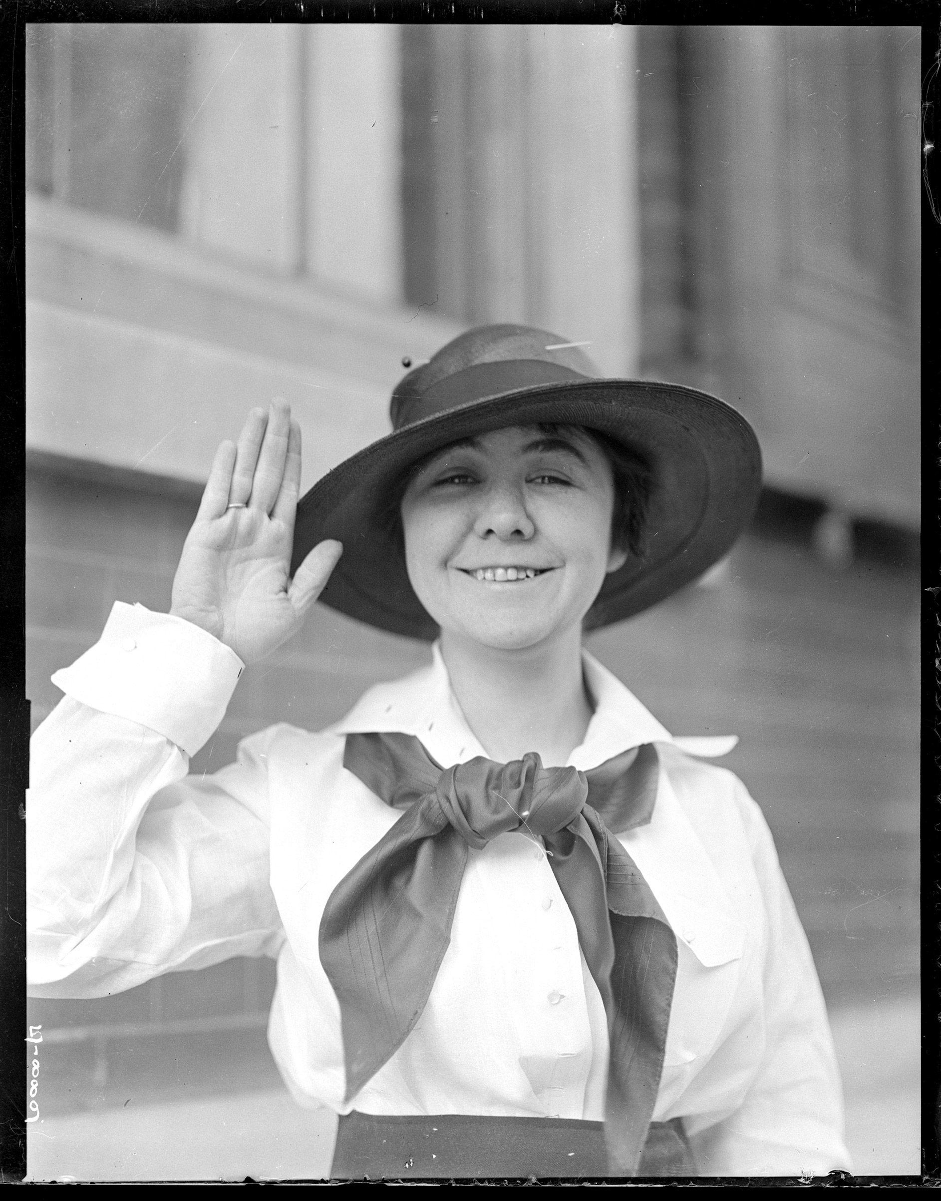 LORETTA PERFECTUS WALSH became the first woman to enlist in the U.S. Navy in 1917.