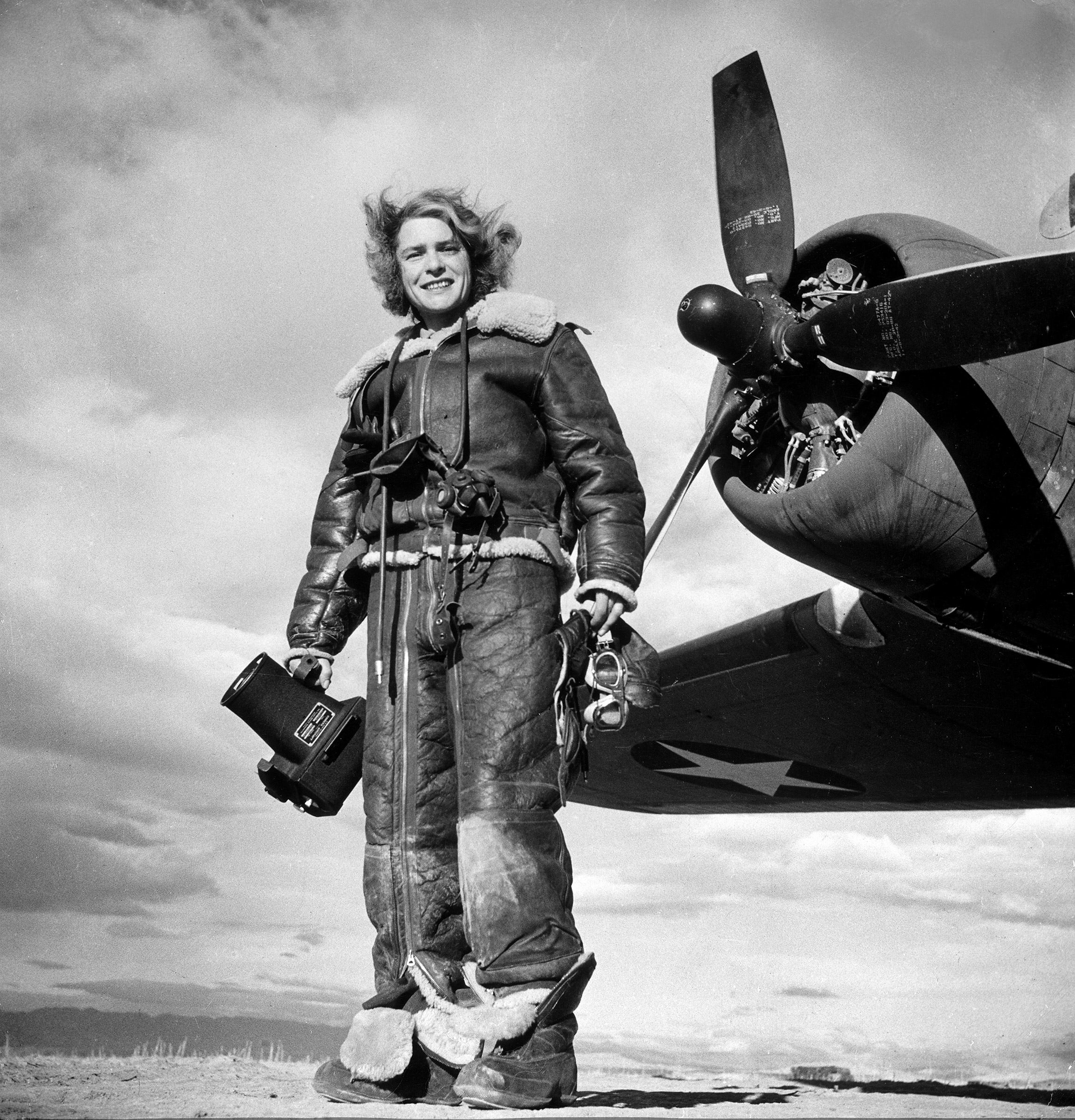 MARGARET BOURKE-WHITE became the first female photographer accredited to cover World War II combat zones in 1942.