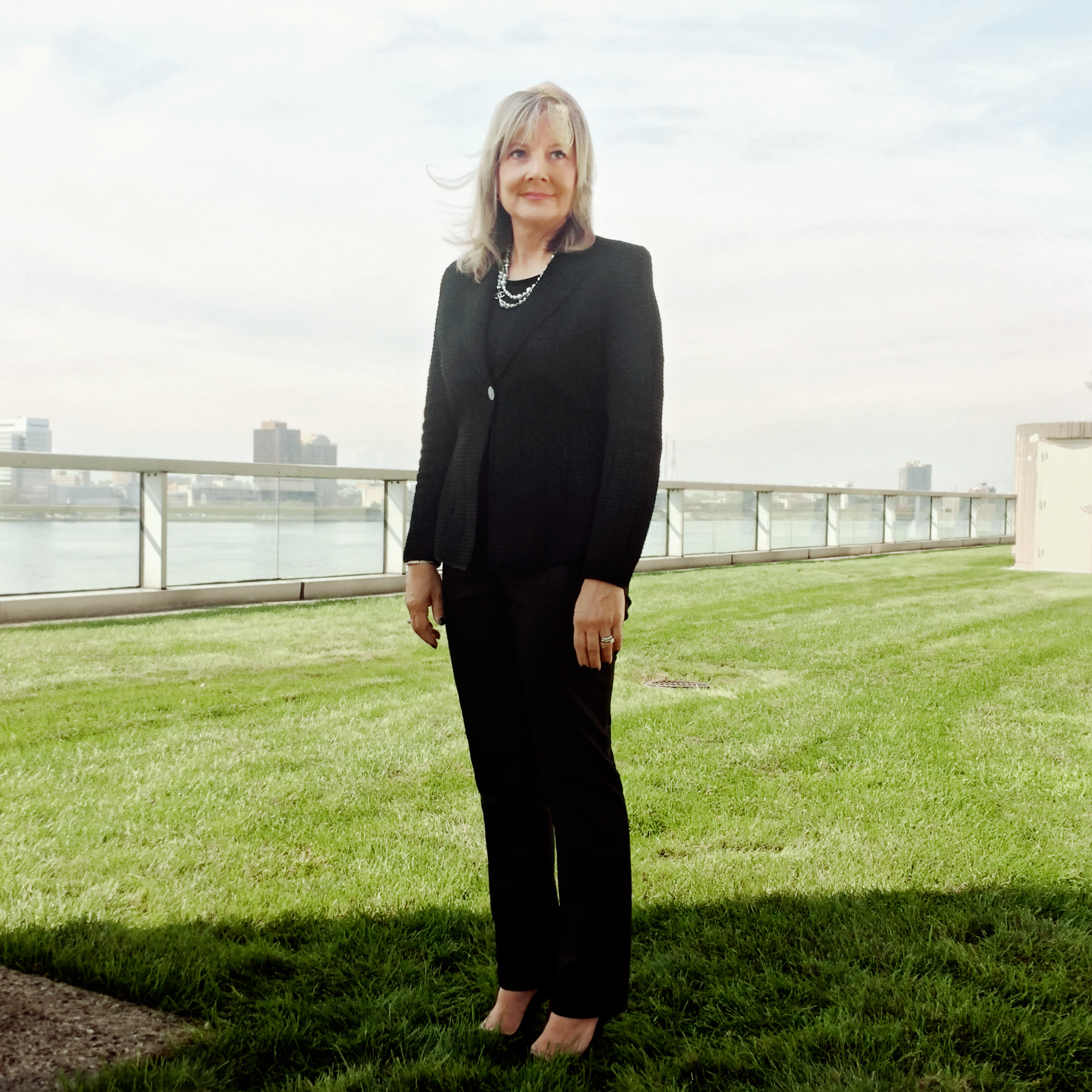 Portrait of Mary Barra, photographed on the roof of the General Motors offices in Detroit, MI, August 17, 2016.