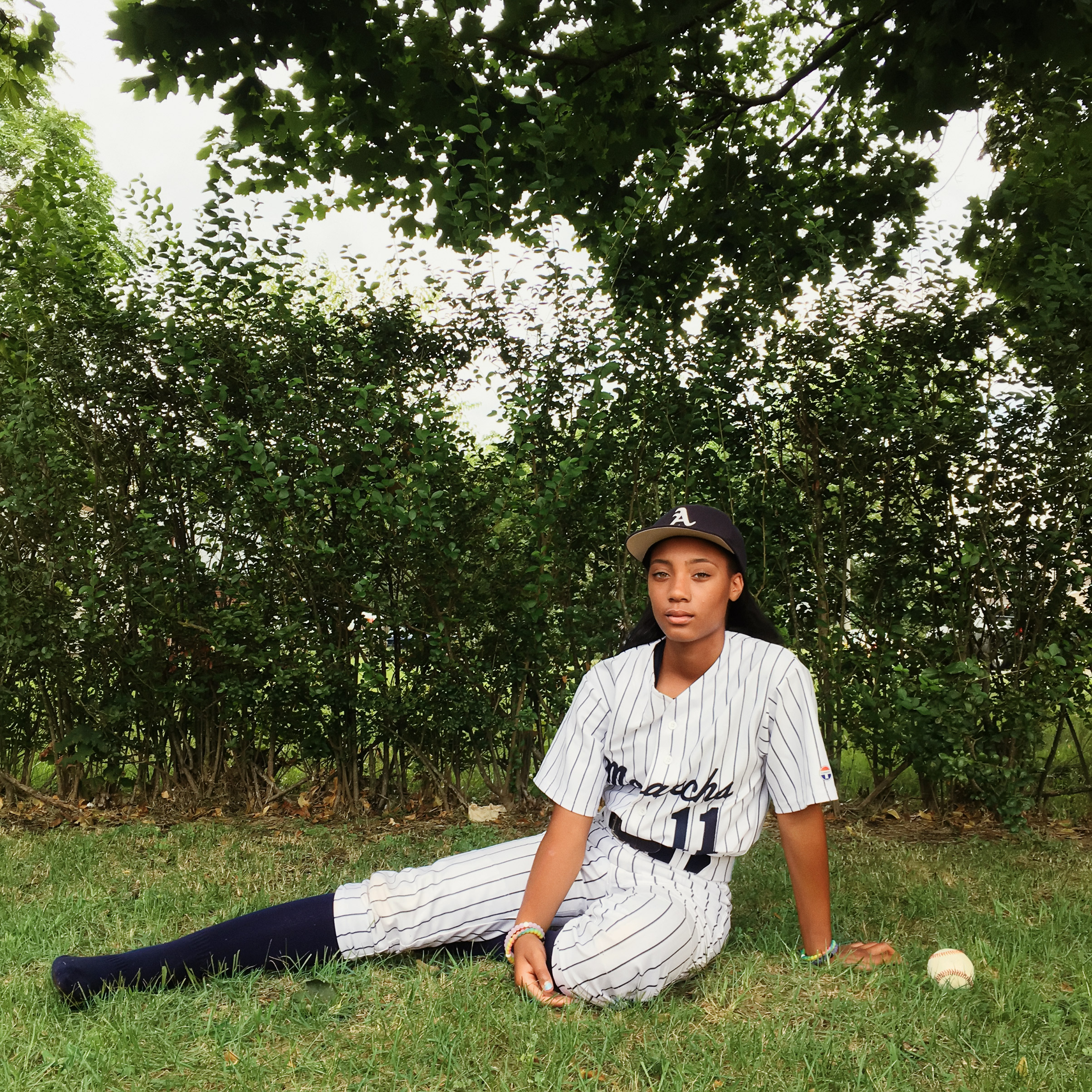 Portrait of Mo'ne Davis, photographed in the compound of her home in Willingboro, NJ, September 1, 2016.