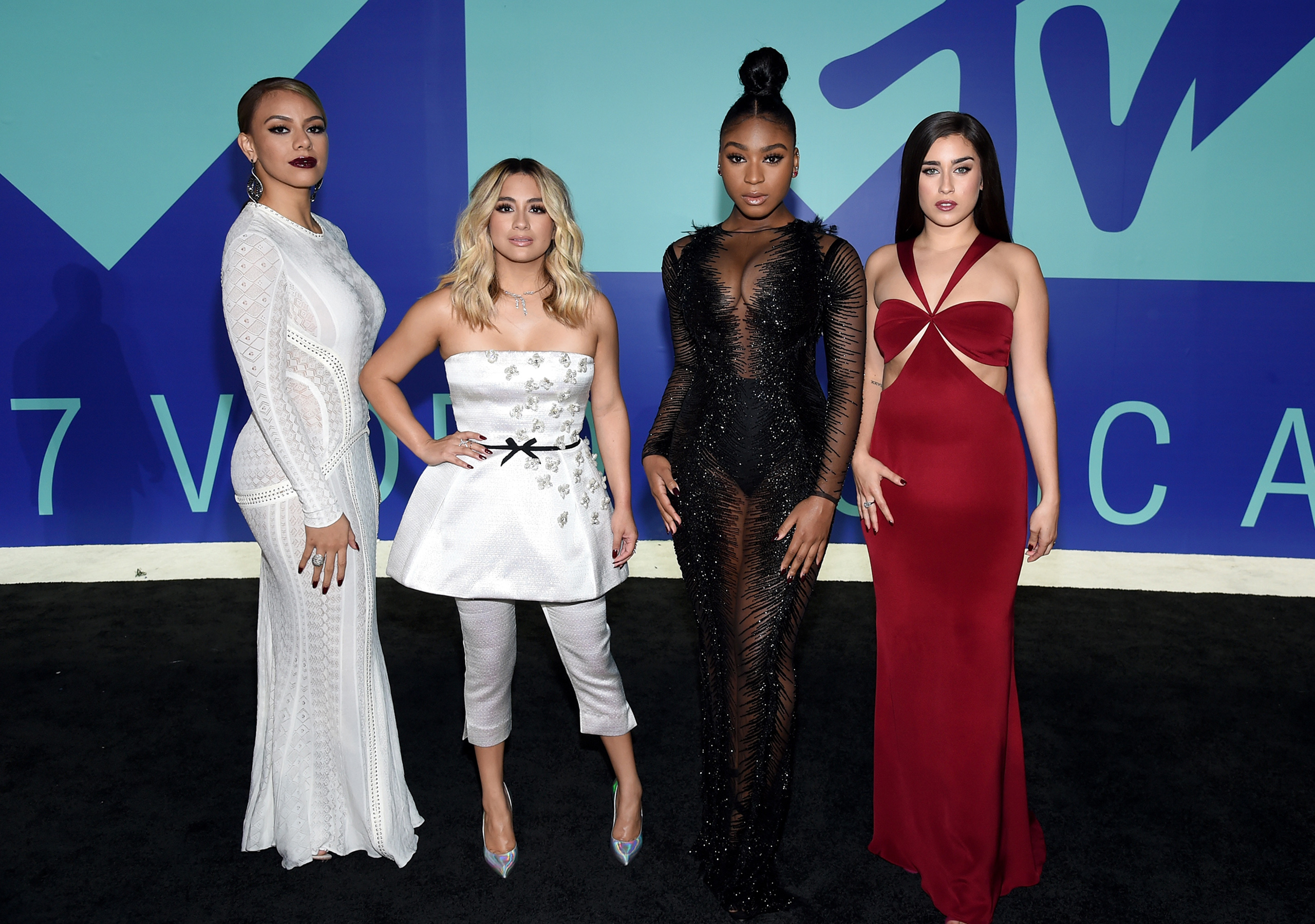Dinah Jane, Ally Brooke, Normani Kordei, and Lauren Jauregui of Fifth Harmony attend the 2017 MTV Video Music Awards at The Forum on August 27, 2017 in Inglewood, California.