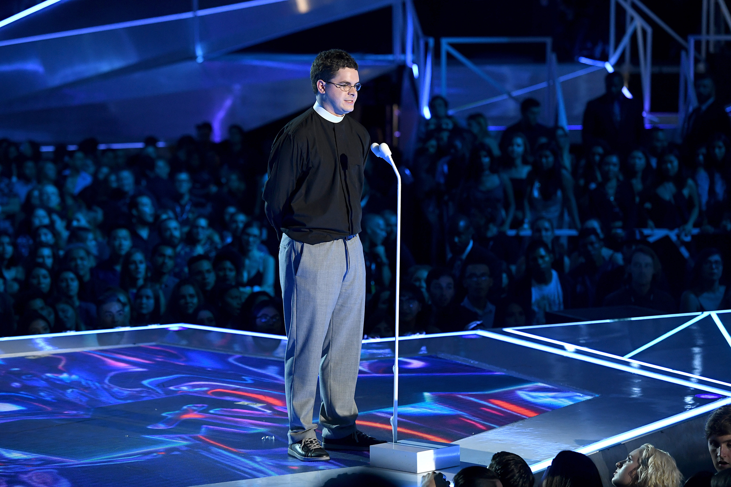 Robert Wright Lee IV speaks onstage during the 2017 MTV Video Music Awards at The Forum on August 27, 2017 in Inglewood, California.