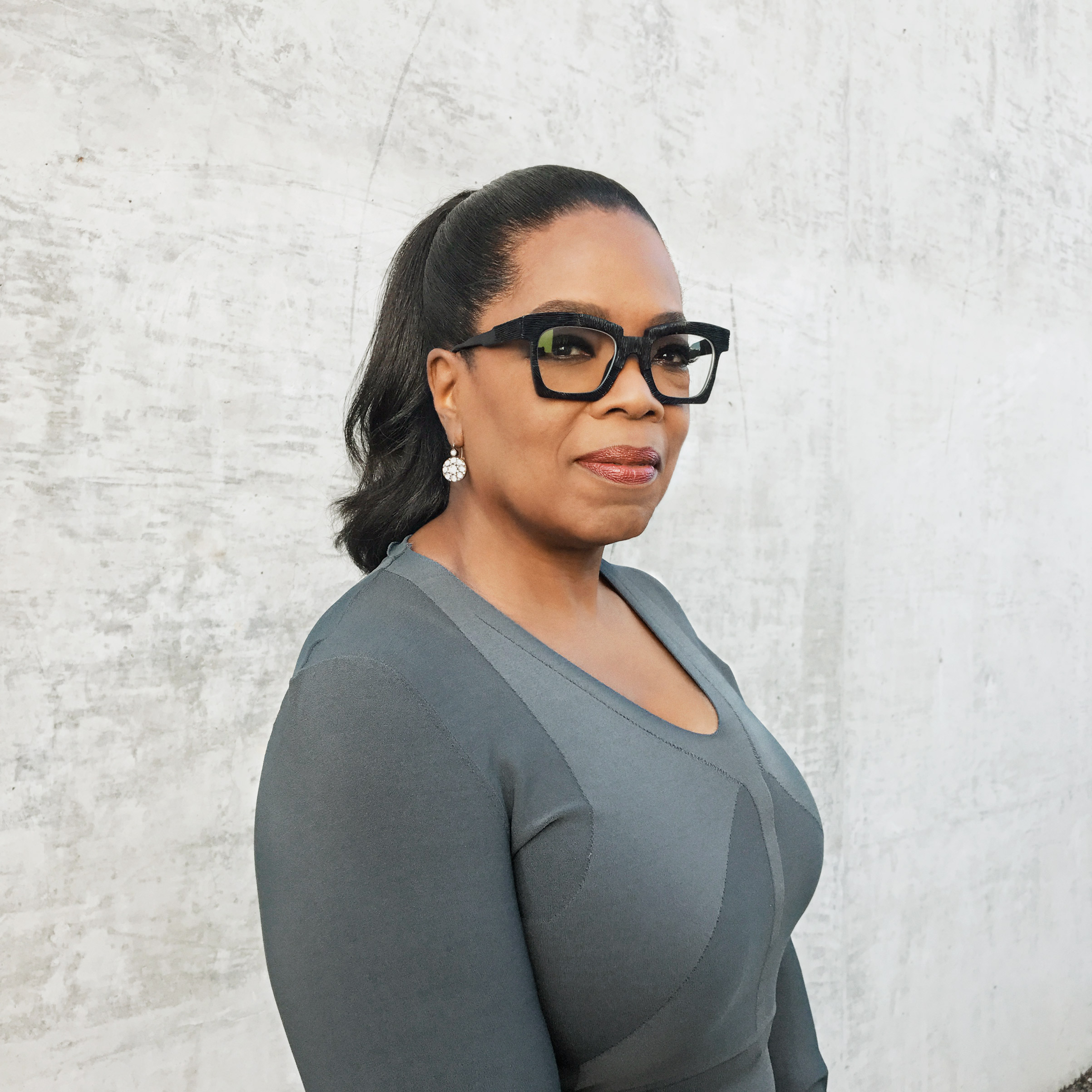 Portrait of Oprah Winfrey, photographed at the OWN Office in West Hollywood, Los Angeles, October 17, 2016.