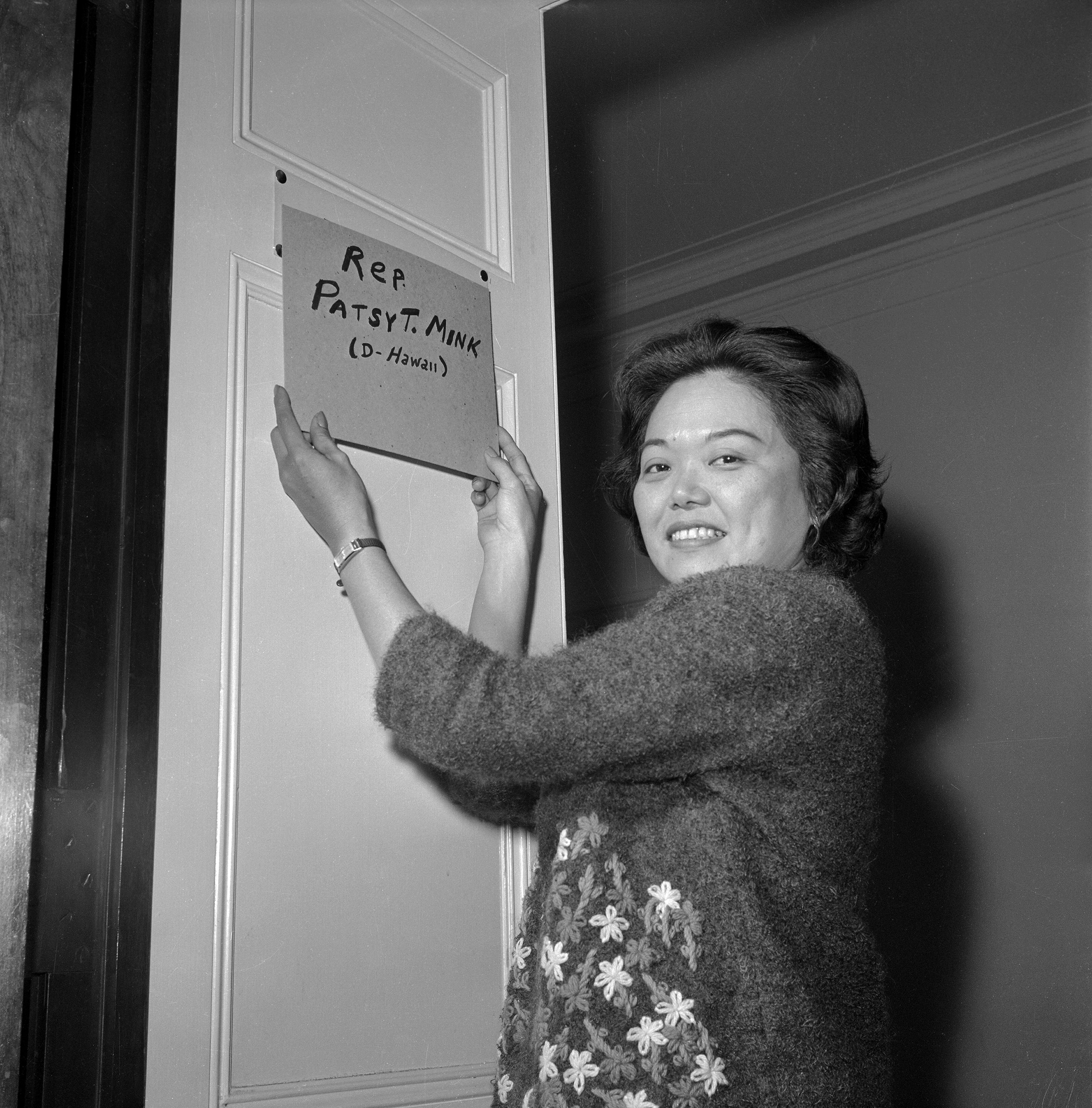 PATSY MINK became the first woman of color elected to Congress in 1964 (representing Hawaii).