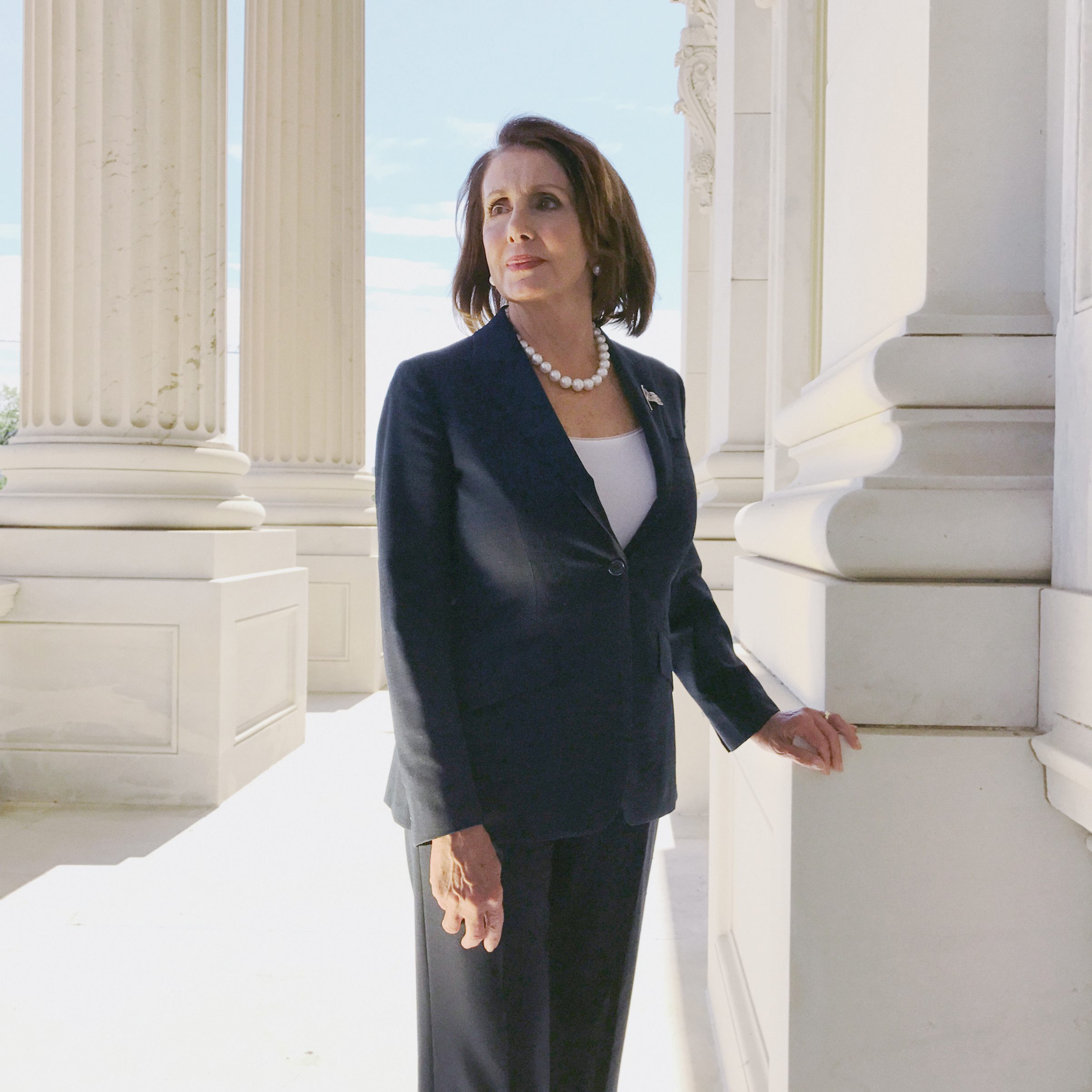 Portrait of Democratic Leader Nancy Pelosi, photographed at The Capitol in Washington, DC, Sept. 22, 2016.