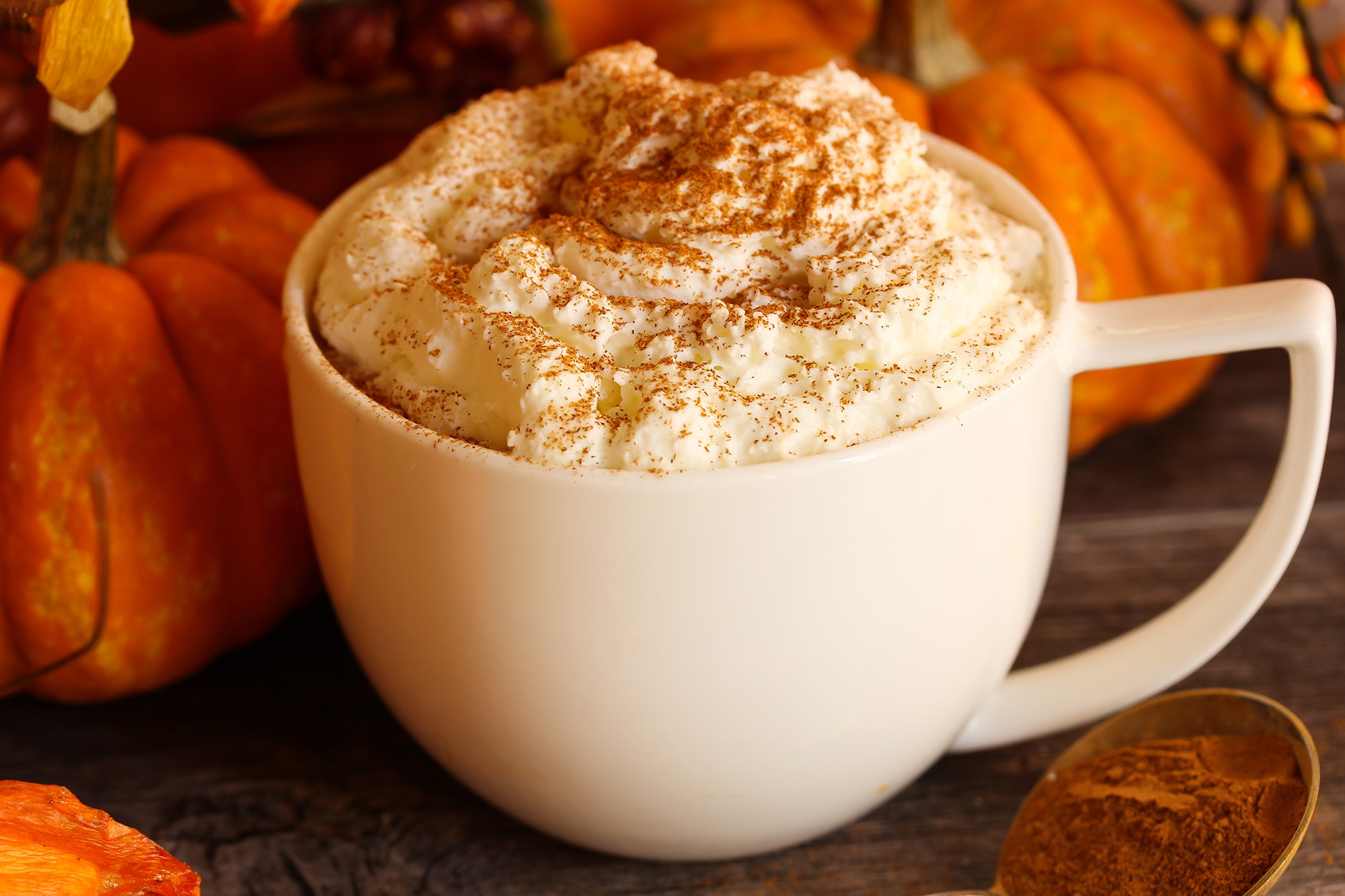 Pumpkin Spice latte coffee for fall and winter weather
