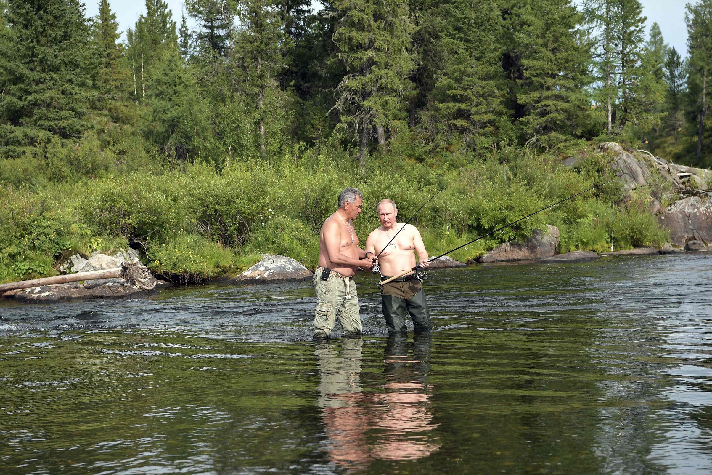 Photos Show Russian President Vladimir Putin On Vacation Time