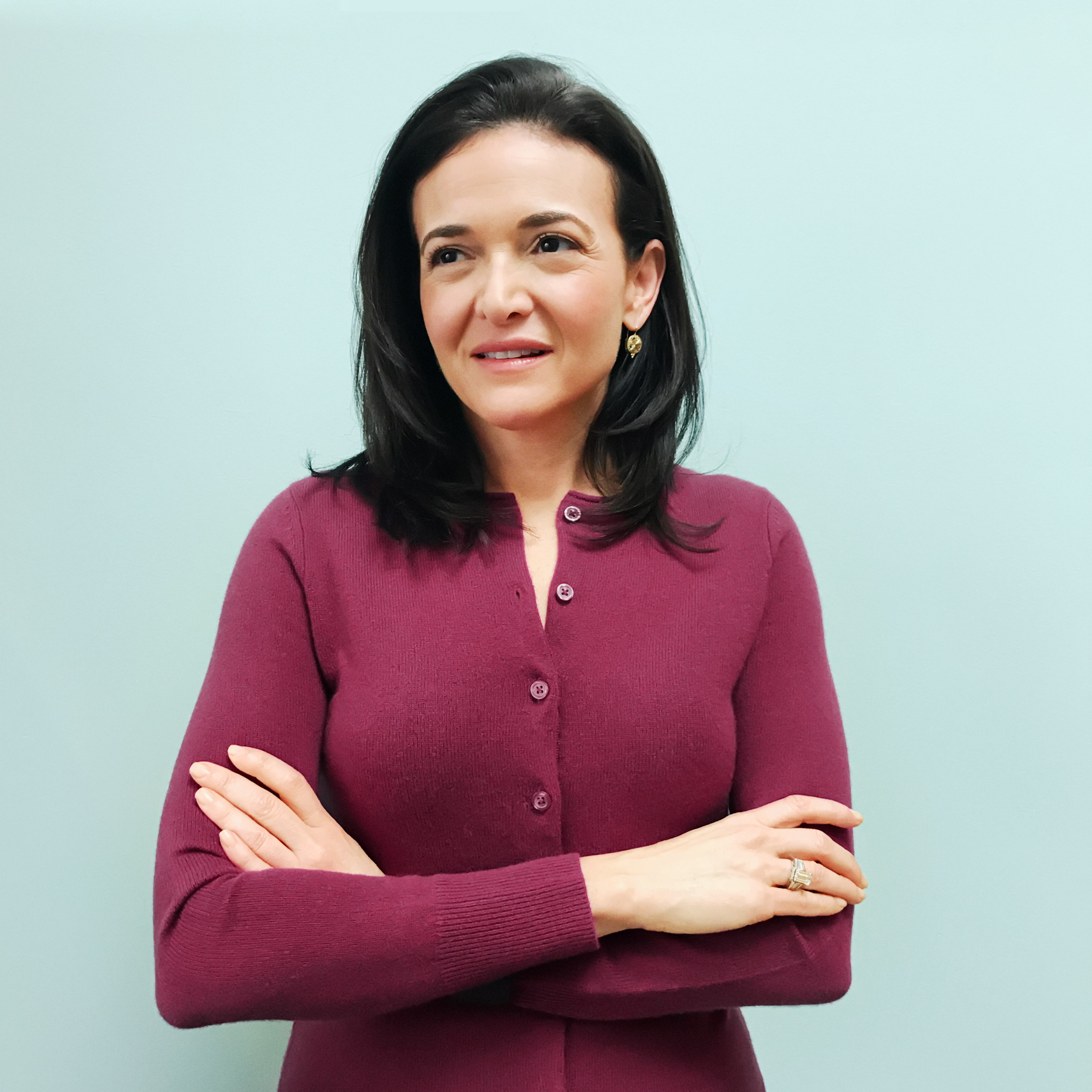 Portrait of Sheryl Sandberg, photographed at Facebook HQ in Menlo Park, CA, on February 10, 2017.