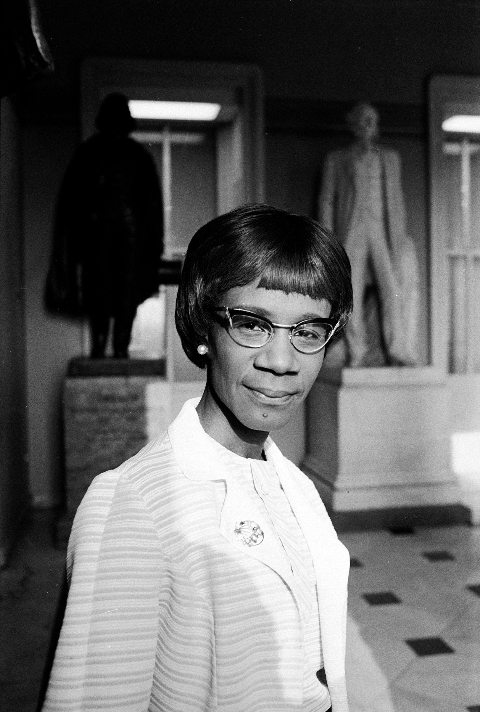 SHIRLEY CHISHOLM became the first African-American woman elected to Congress in 1968 (representing Brooklyn, N.Y.).